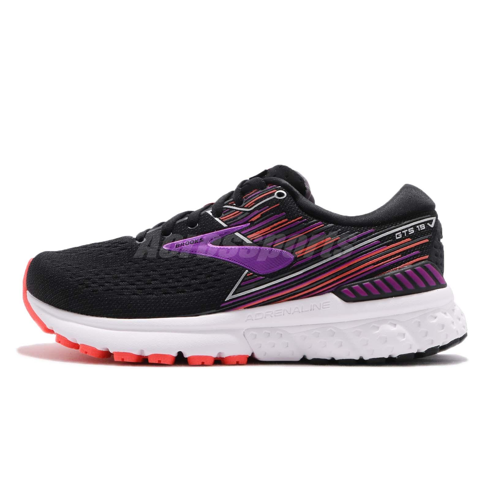 9cd4686c761 Brooks Adrenaline GTS 19 2E Extra Wide Black Purple Women Running Shoe  120284 2E