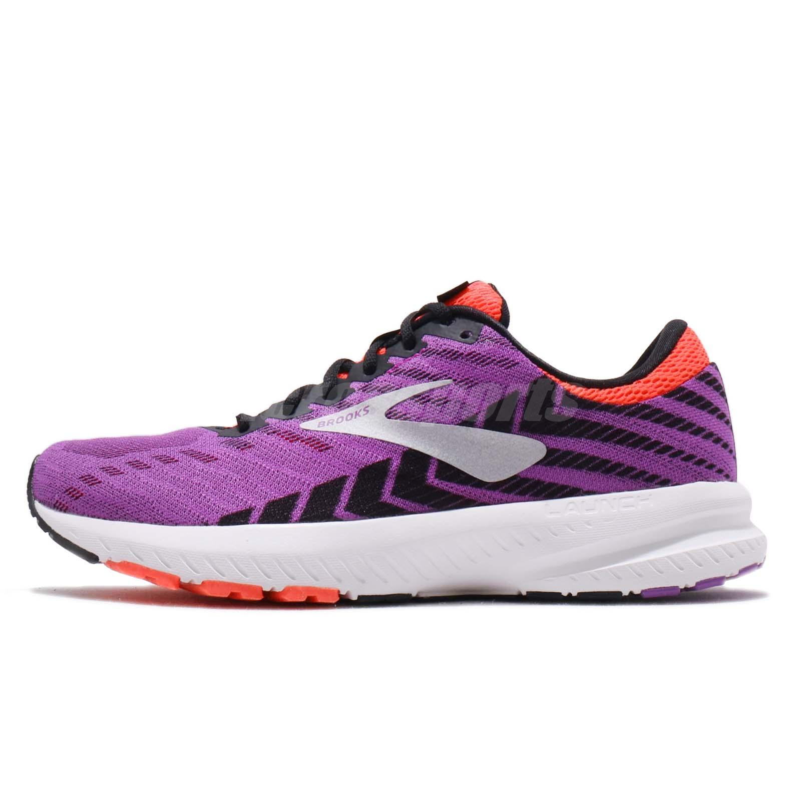 29a12ffa7c688 Brooks Launch 6 Purple Black Coral White Women Running Shoes Sneakers  120285 1B