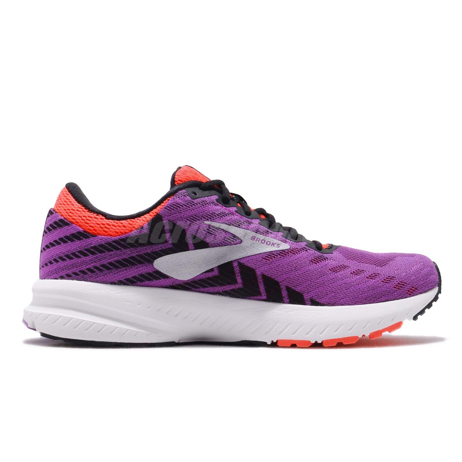 7d9c2ecd11539 Brooks Launch 6 Purple Black Coral White Women Running Shoes ...