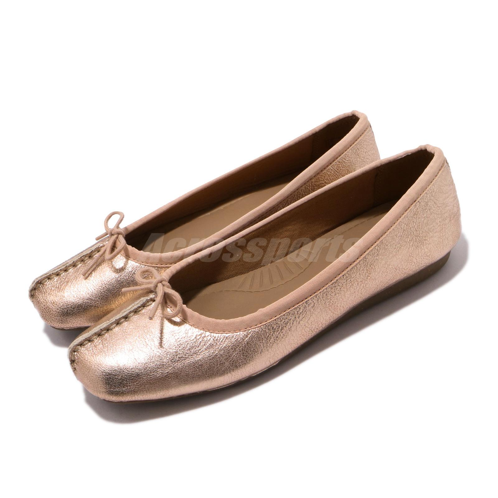 Clarks womens casual shoe FRECKLE ICE Rose Gold D width fitting