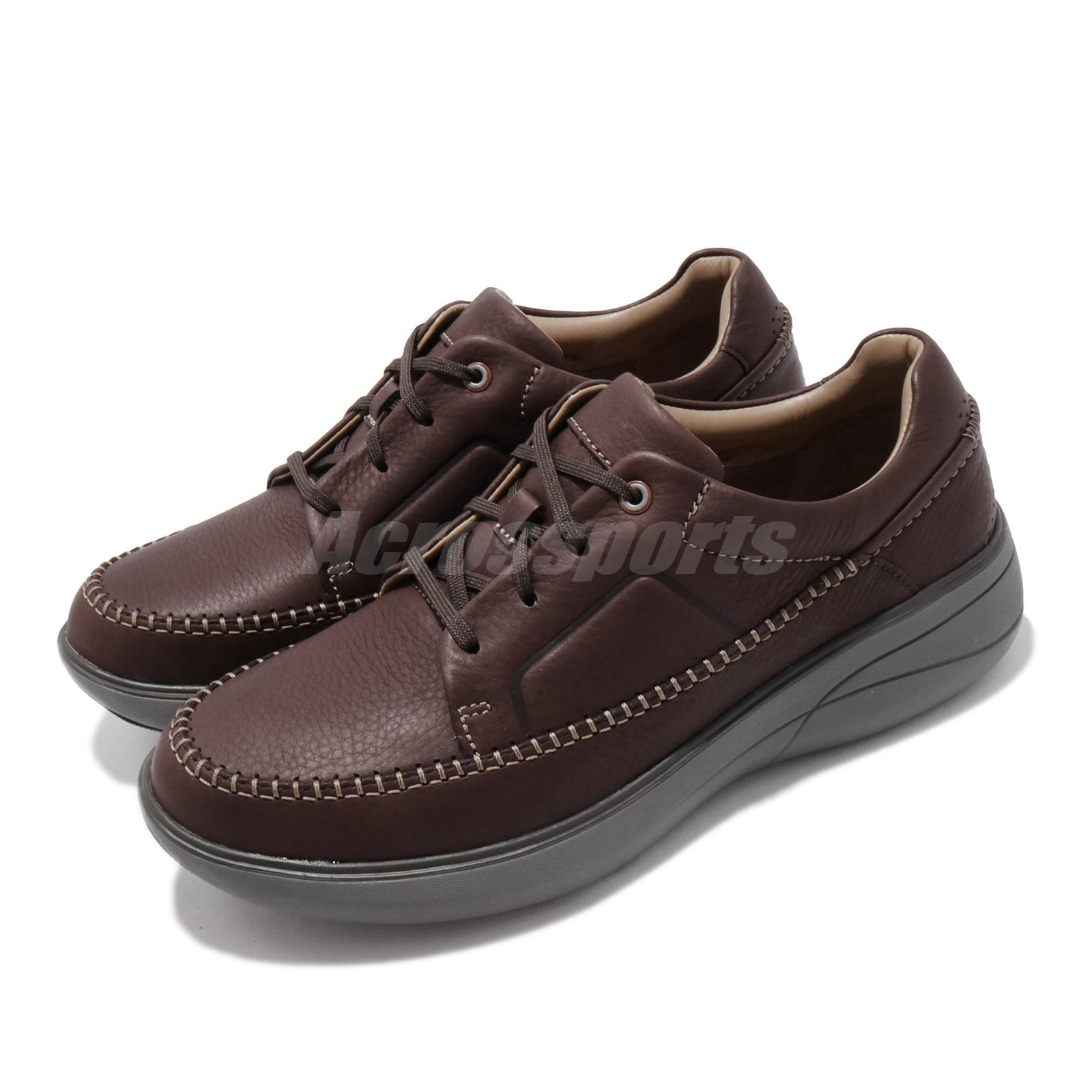 Clarks Mens Derby Lace-Up 12 UK Brown Mahogany