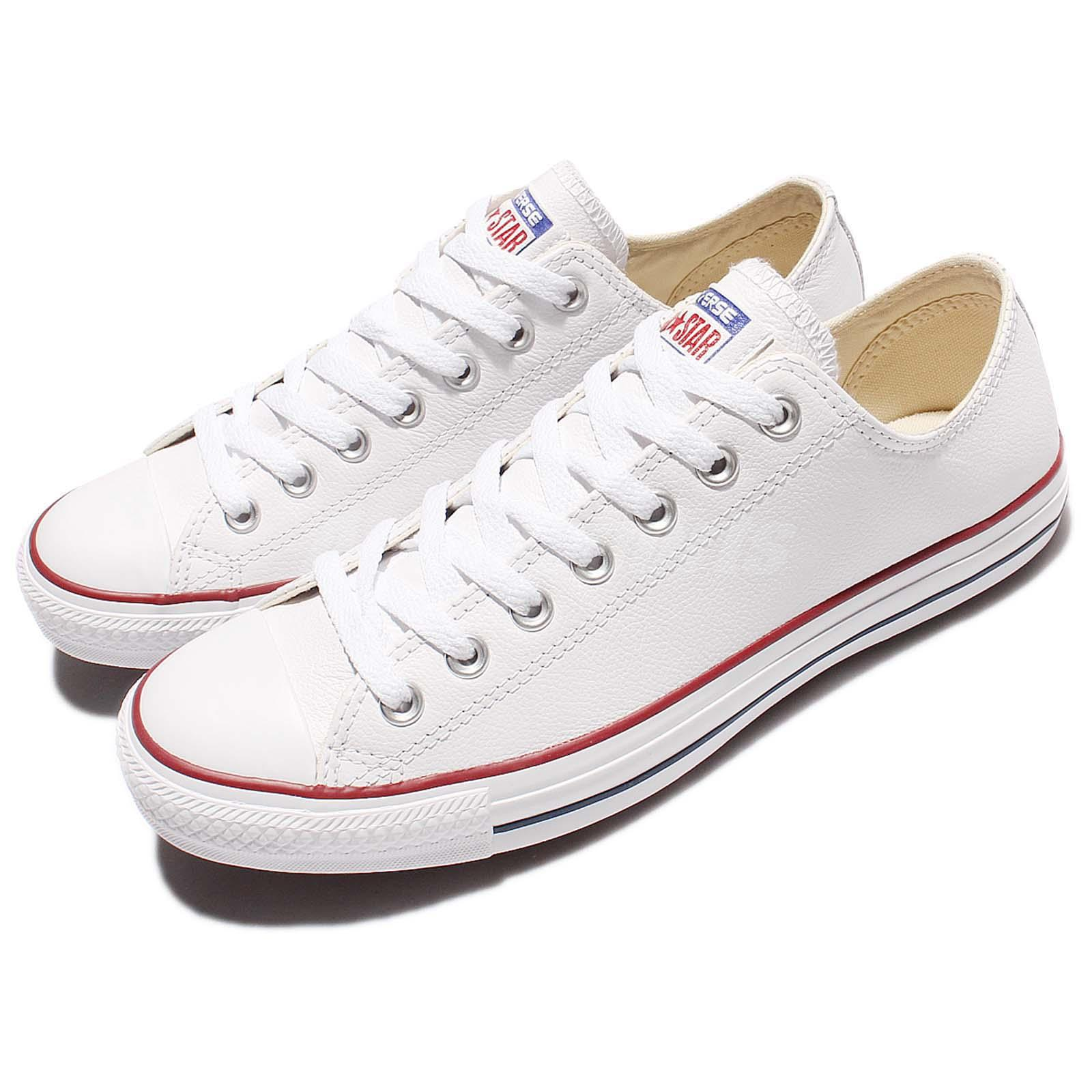 386c3335795a Details about Converse Chuck Taylor All Star OX Leather White Men Women Shoes  Sneakers 132173C