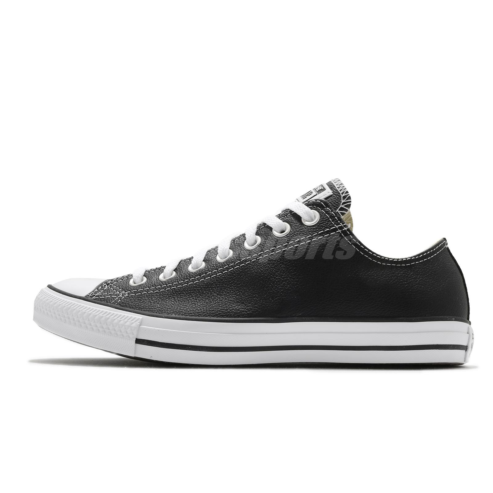 dbcb6dc43400 Converse Chuck Taylor All Star OX Oxford Leather Black Men Women Shoes  132174C