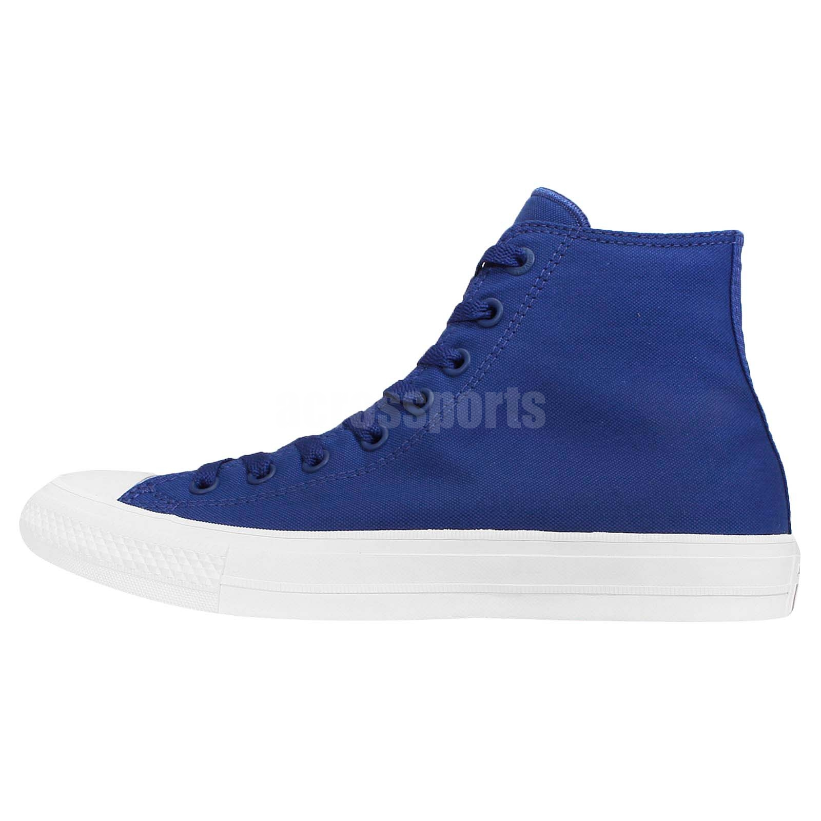 79e595b88c2e Converse Chuck Taylor All Star II 2 Lunarlon Blue White Men Shoe Sneaker  150146C