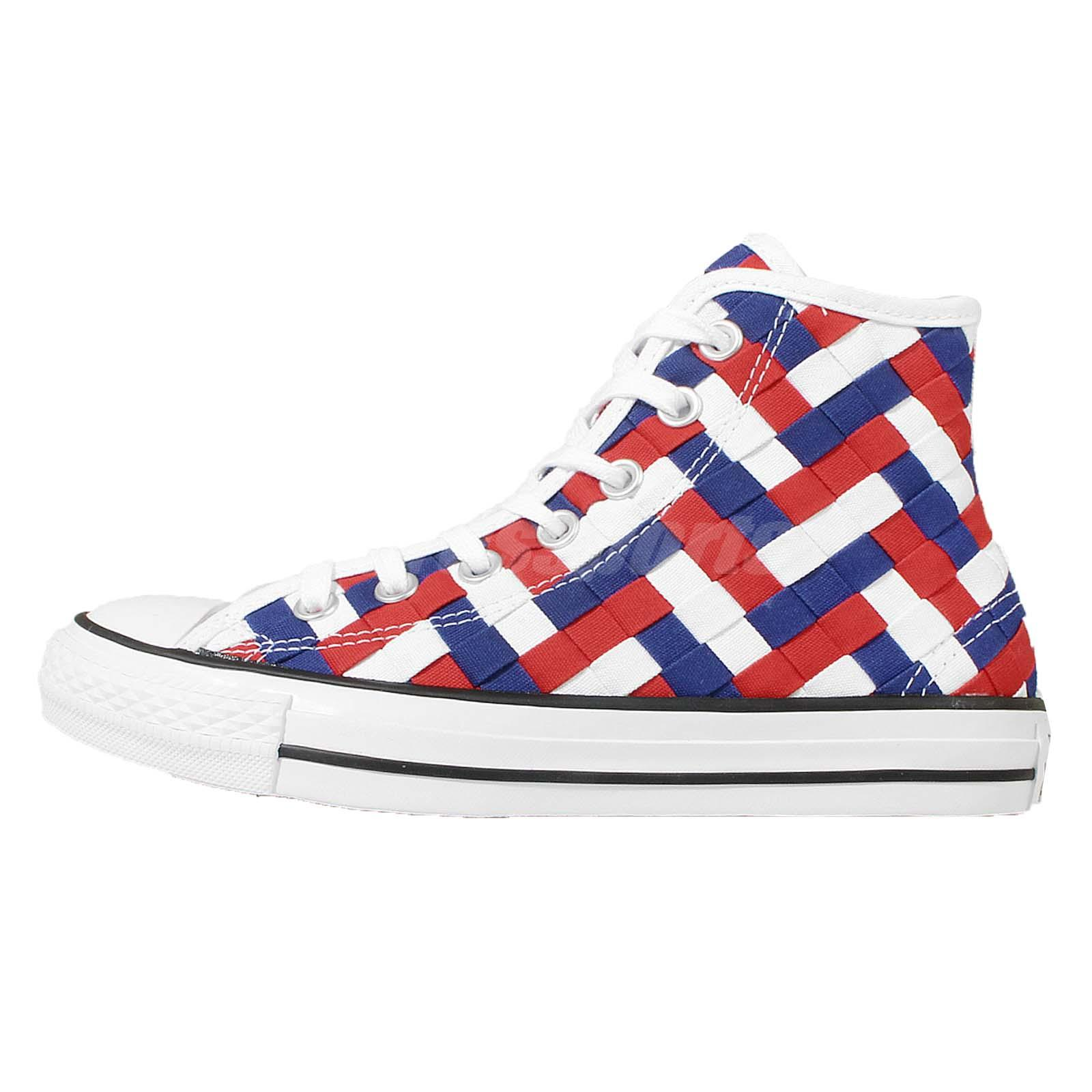f6a723feac0e ... ebay converse chuck taylor all star white blue red woven mens womens  shoes 152902c dd328 56c8f