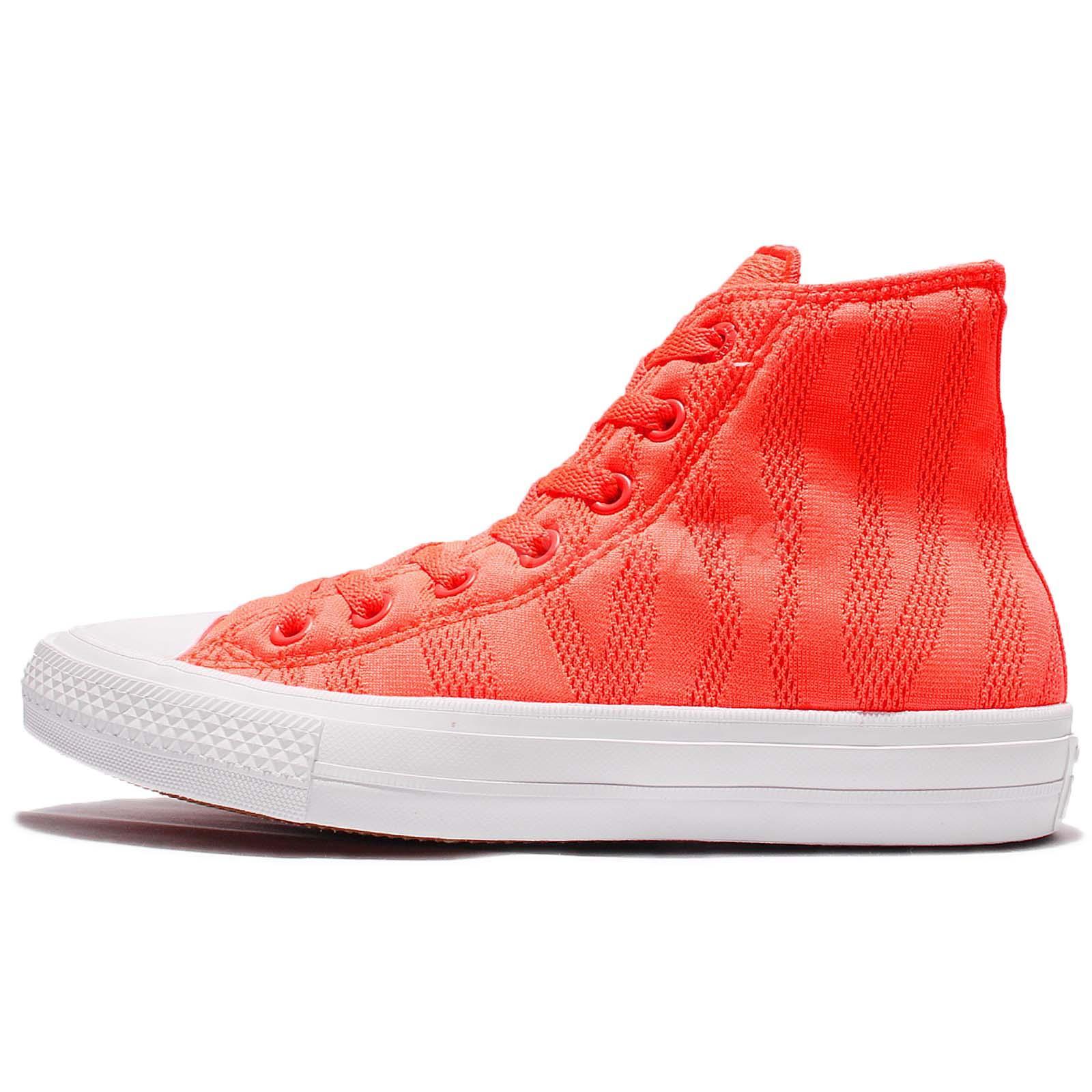 Converse Chuck Taylor All Star II Hi Top Orange White Lunarlon Men Shoes  155492C bfec4cc22