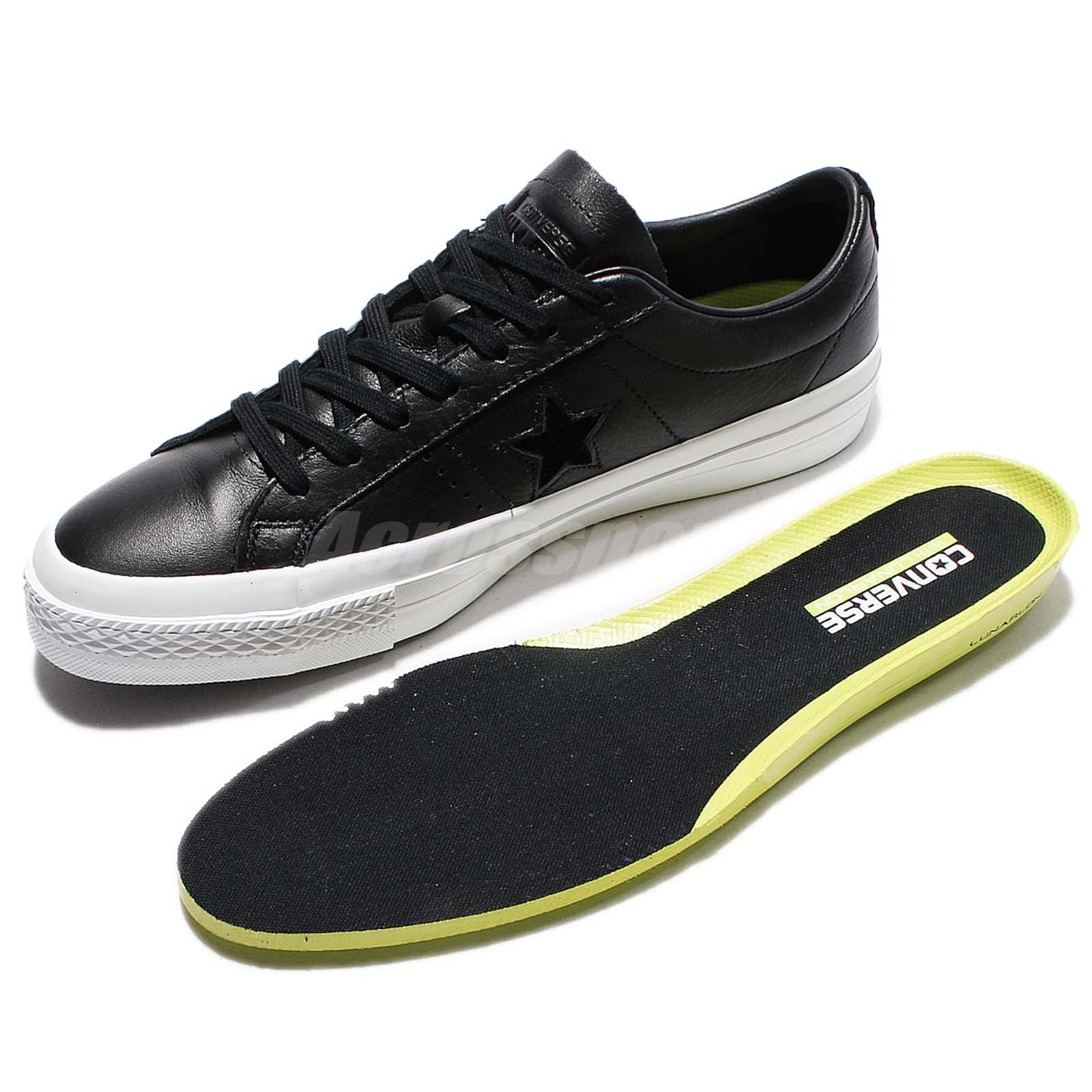 7f600a57d41f Details about Converse One Star Premium Leather Low Top Black White Men  Classic Shoes 155548C