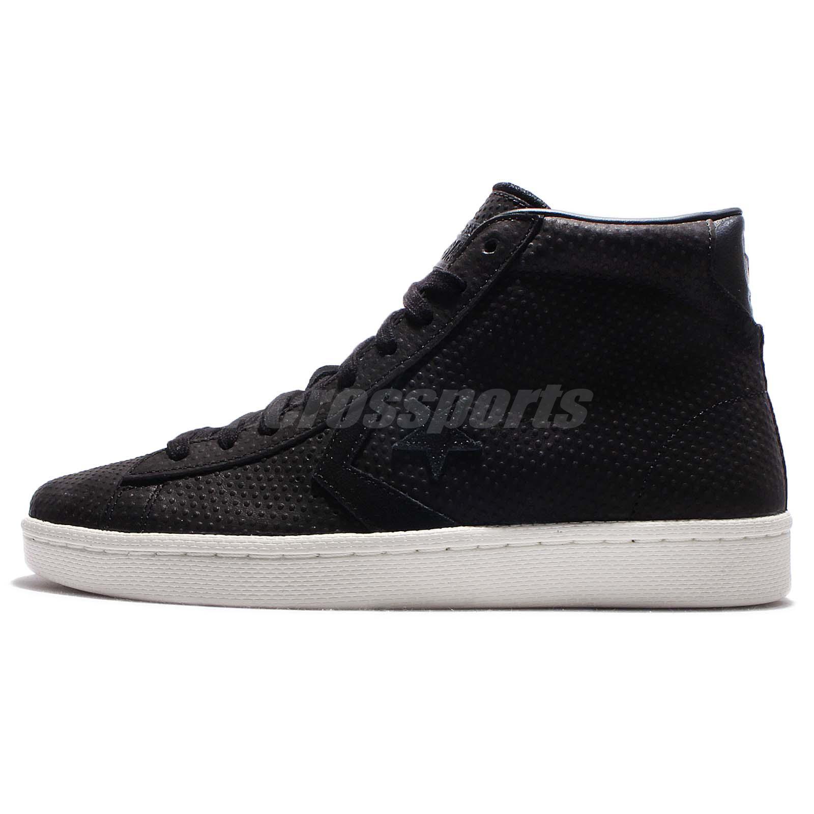 Converse Leather Pro Casual Men Shoes 76 White Black Pl rUqfwr