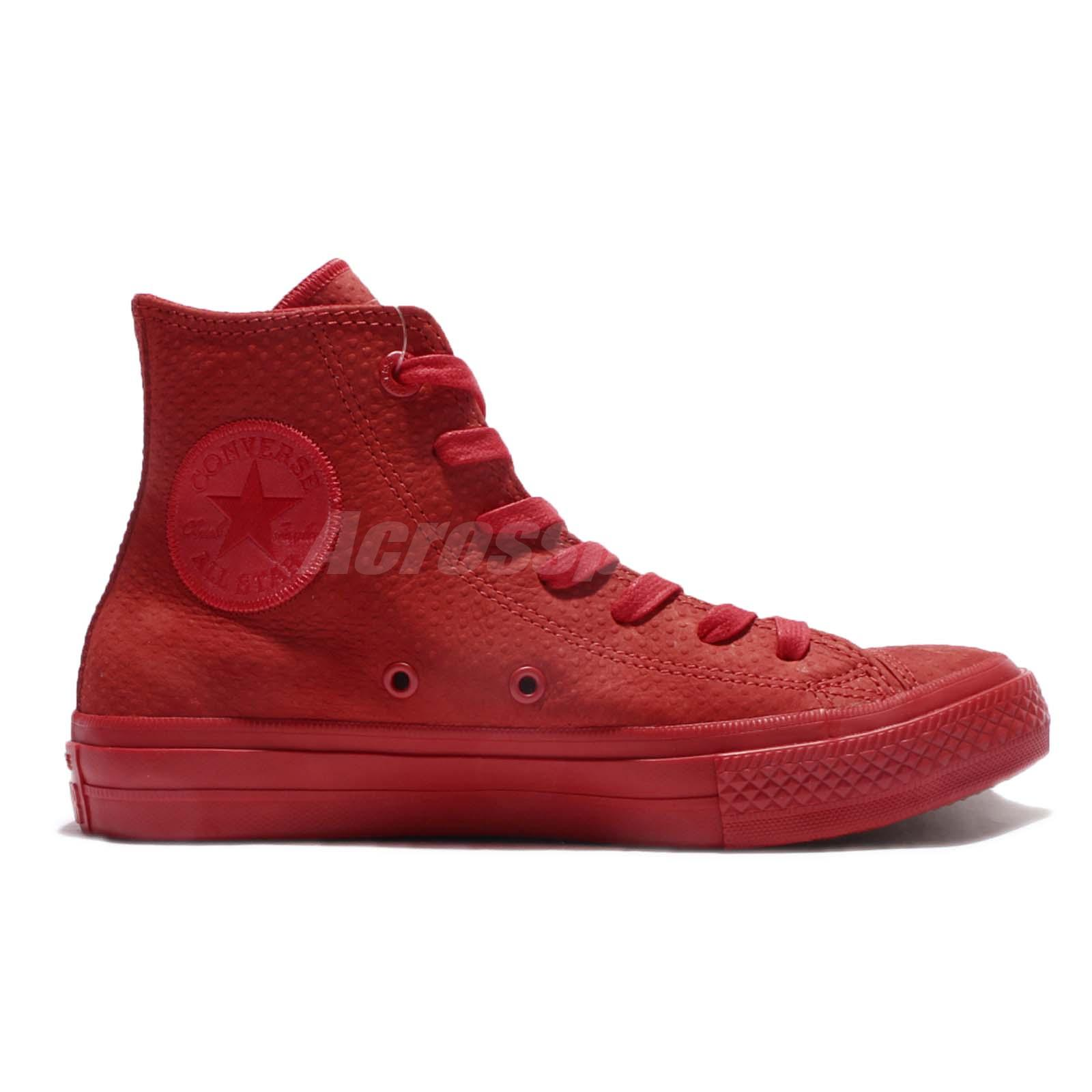 converse leather red