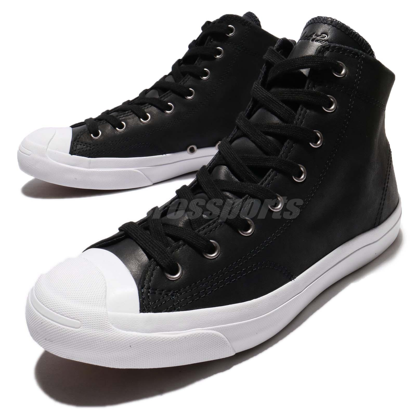 Converse Jack Purcell Jack Leather High Top Black White Men Shoe Sneaker 157707C