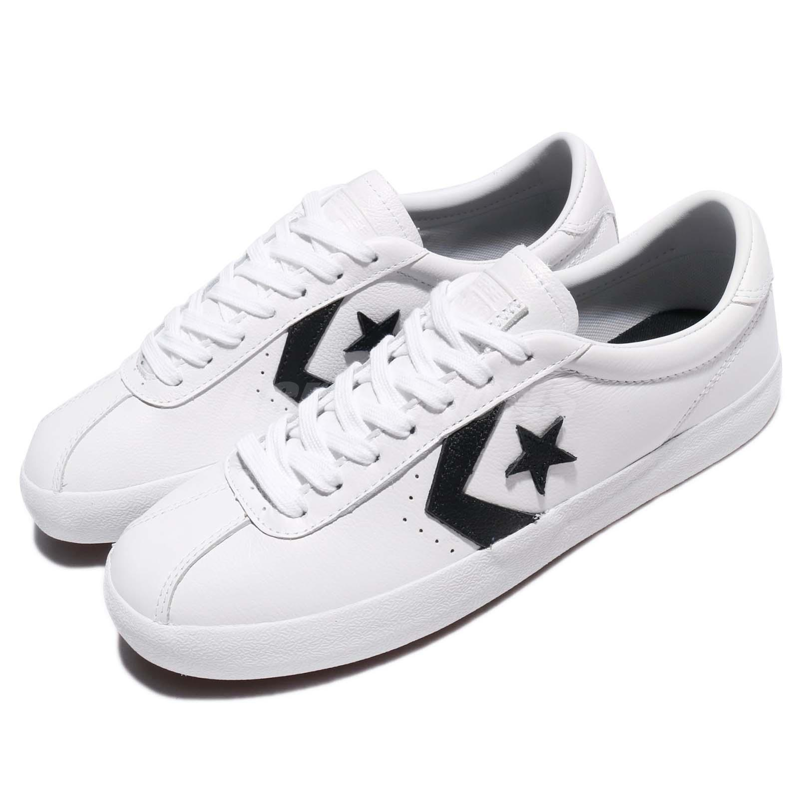 Details about Converse Breakpoint Low Top White Black Leather Men Sneakers  Shoes 157777C a598356bd3
