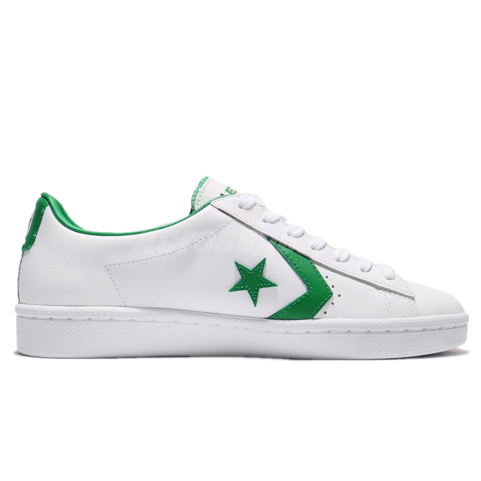 8d712ff1937d38 Converse PL 76 Cons Pro Leather Low White Green Leather Men Shoe ...
