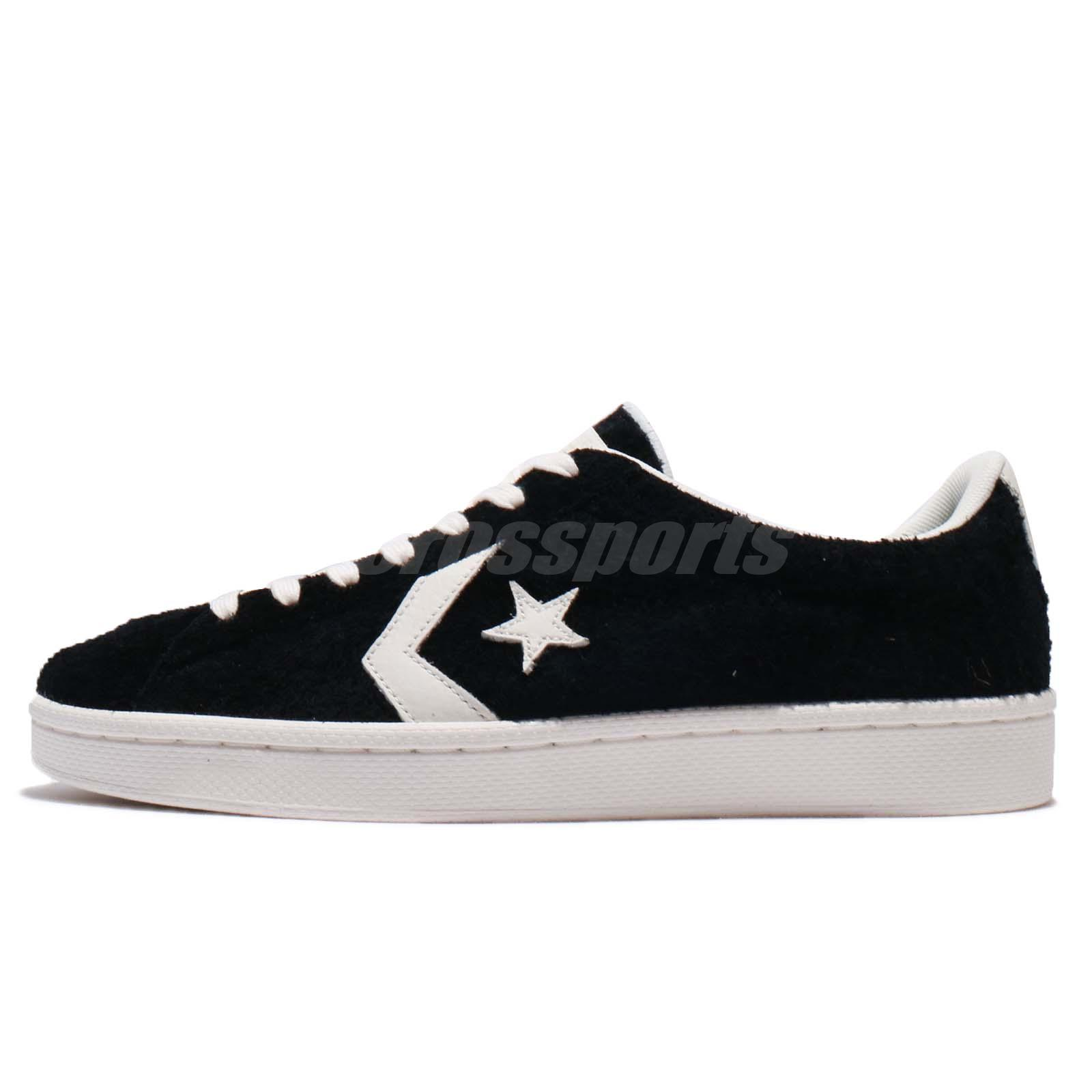 7881433f6962 Converse Pro Leather Low Black Ivory Suede Men Women Shoes Sneakers 157838C