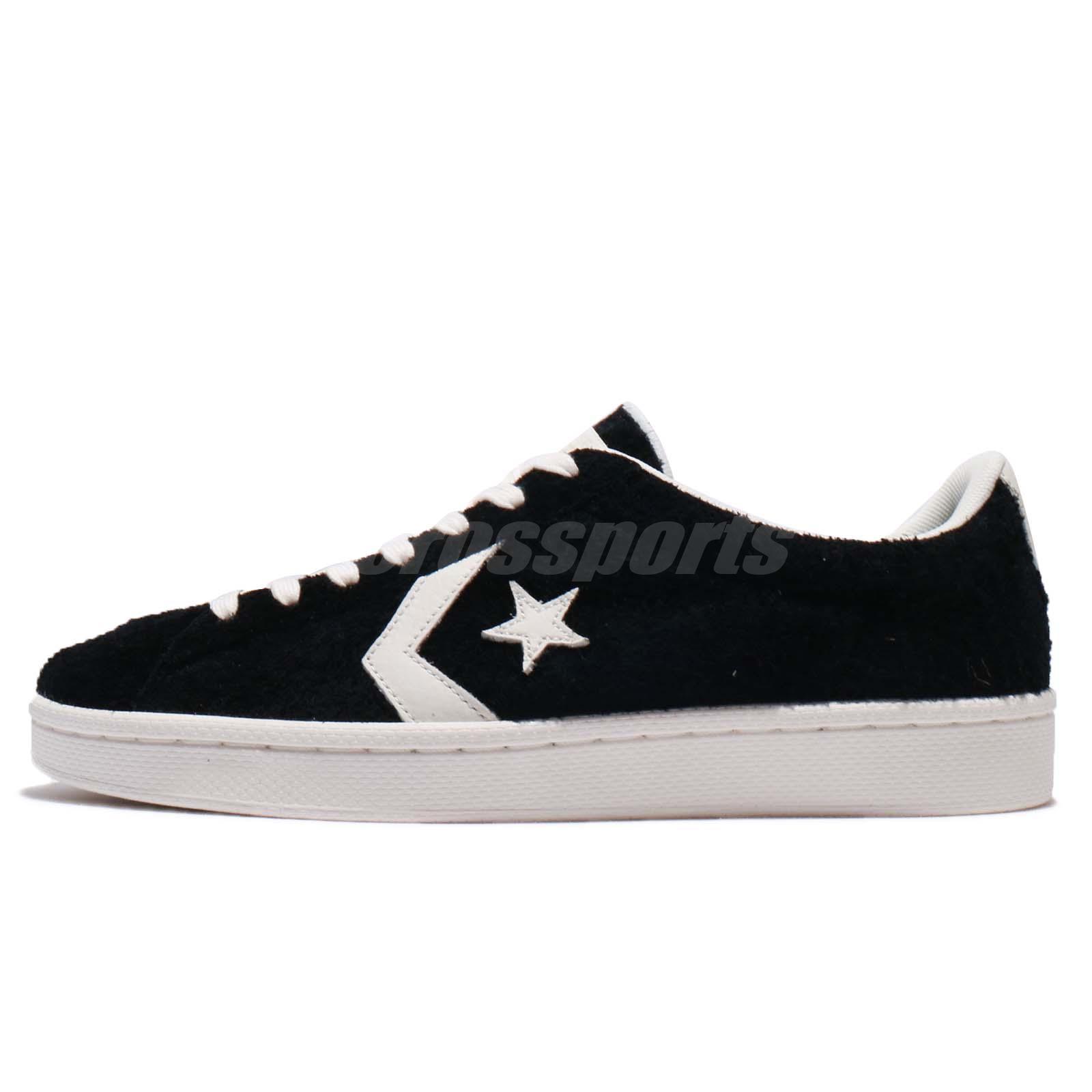 b0d5656388c6 Converse Pro Leather Low Black Ivory Suede Men Women Shoes Sneakers 157838C