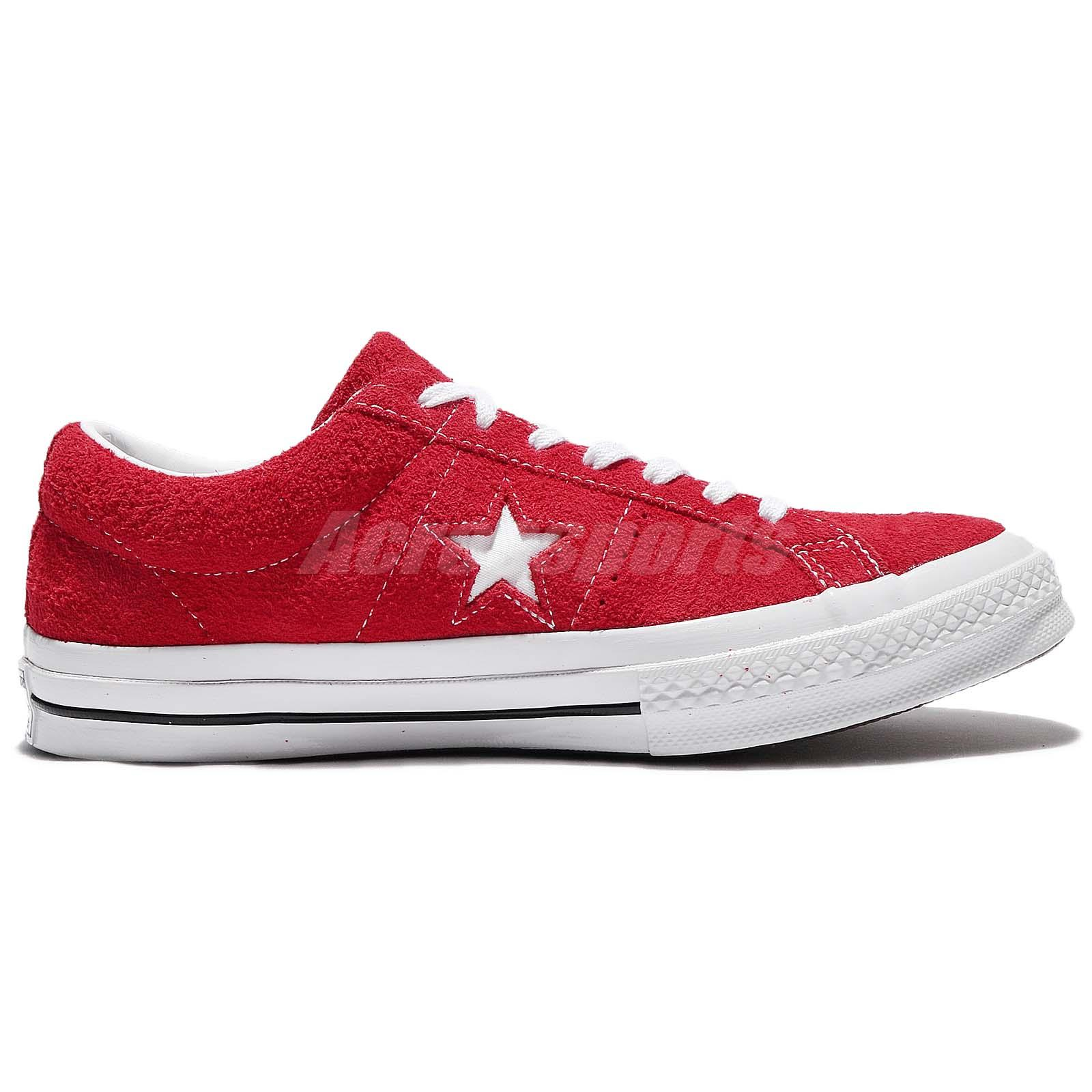 832b0f3435eb4b Converse One Star Suede Red White Men Women Skateboarding Shoes ...