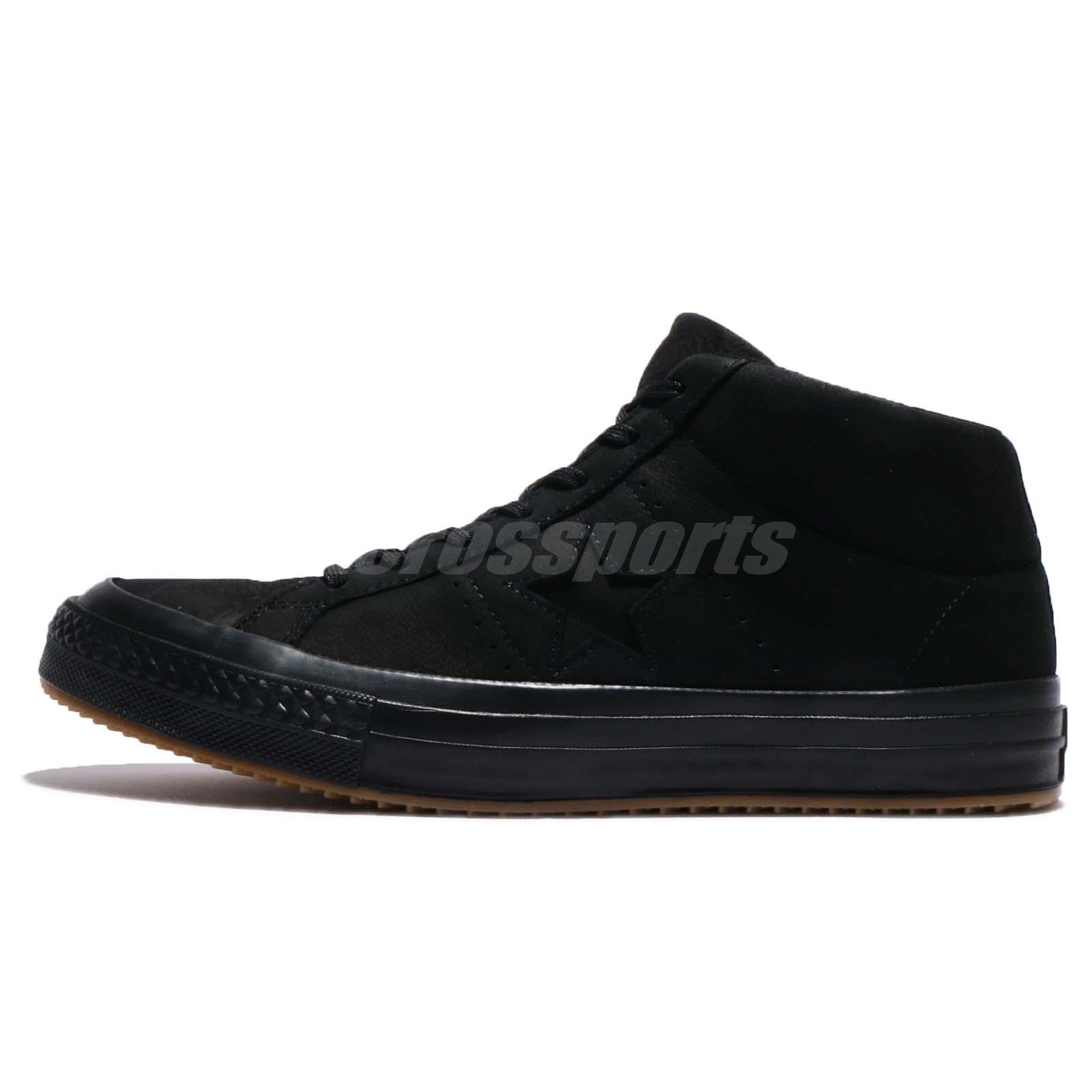 1c213a547e93 Converse One Star Mid WP Black Nubuck Counter Climate Men Shoes Sneakers  158832C
