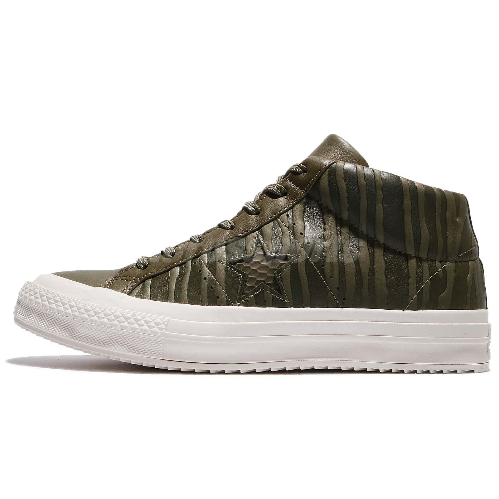 8e2477d2b5ed1e Converse One Star Mid Counter Climate Leather Olive Men Skate Boarding  158836C