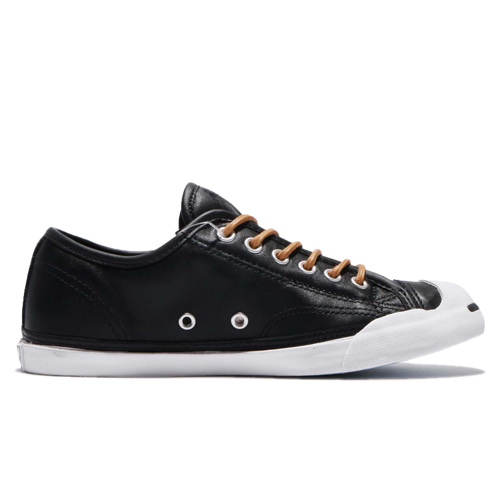 963f50351512 Converse Jack Purcell LP L S Leather Black Brown White Men Shoes ...
