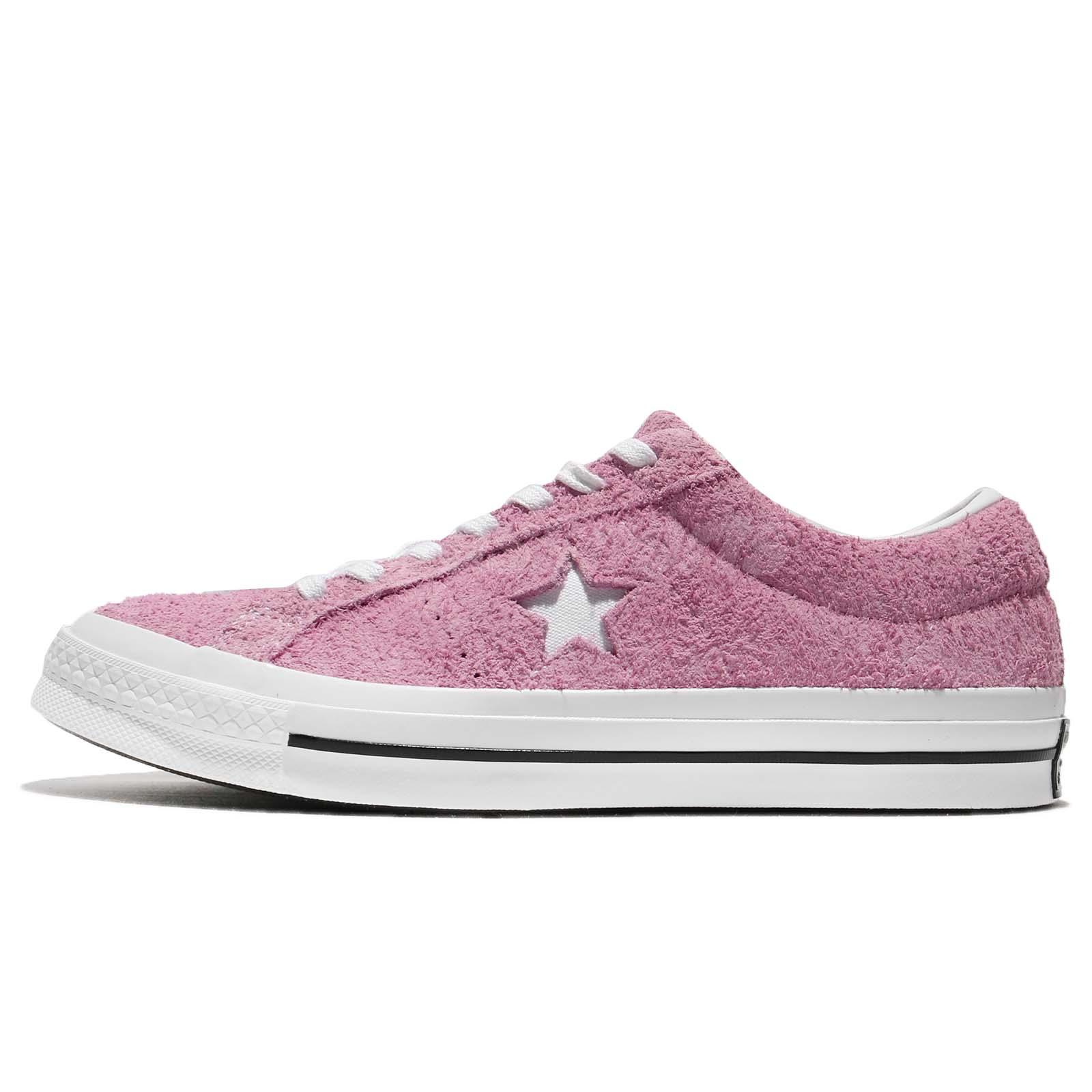 e5c15f4a3eba8f Converse One Star Suede Pink White Men Women Classic Shoes Sneakers 159492C