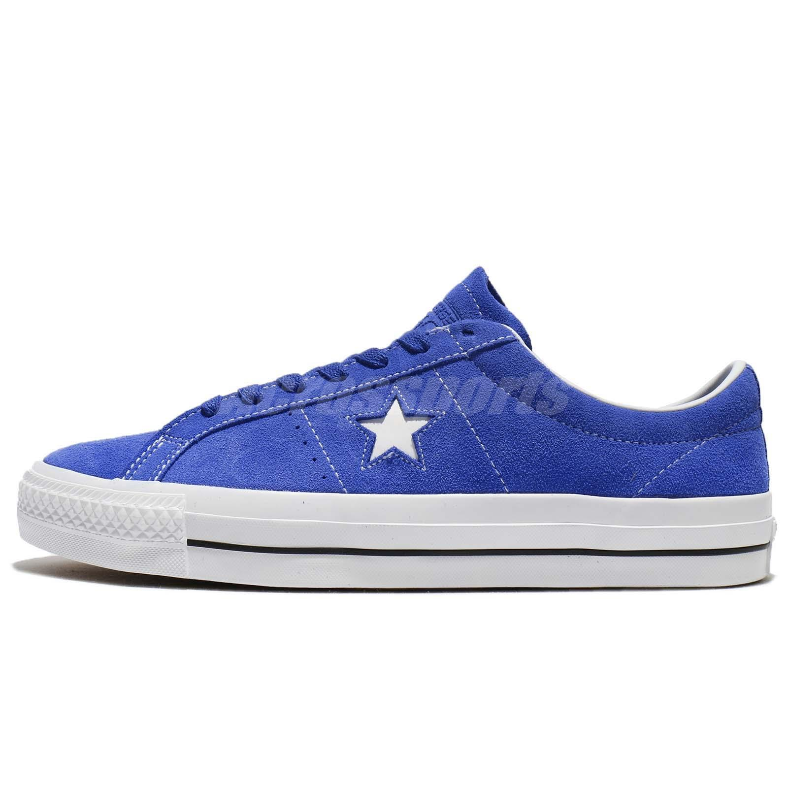 Converse One Star Pro Suede Blue White Men Women Shoes Sneakers 159510C de54b0db112