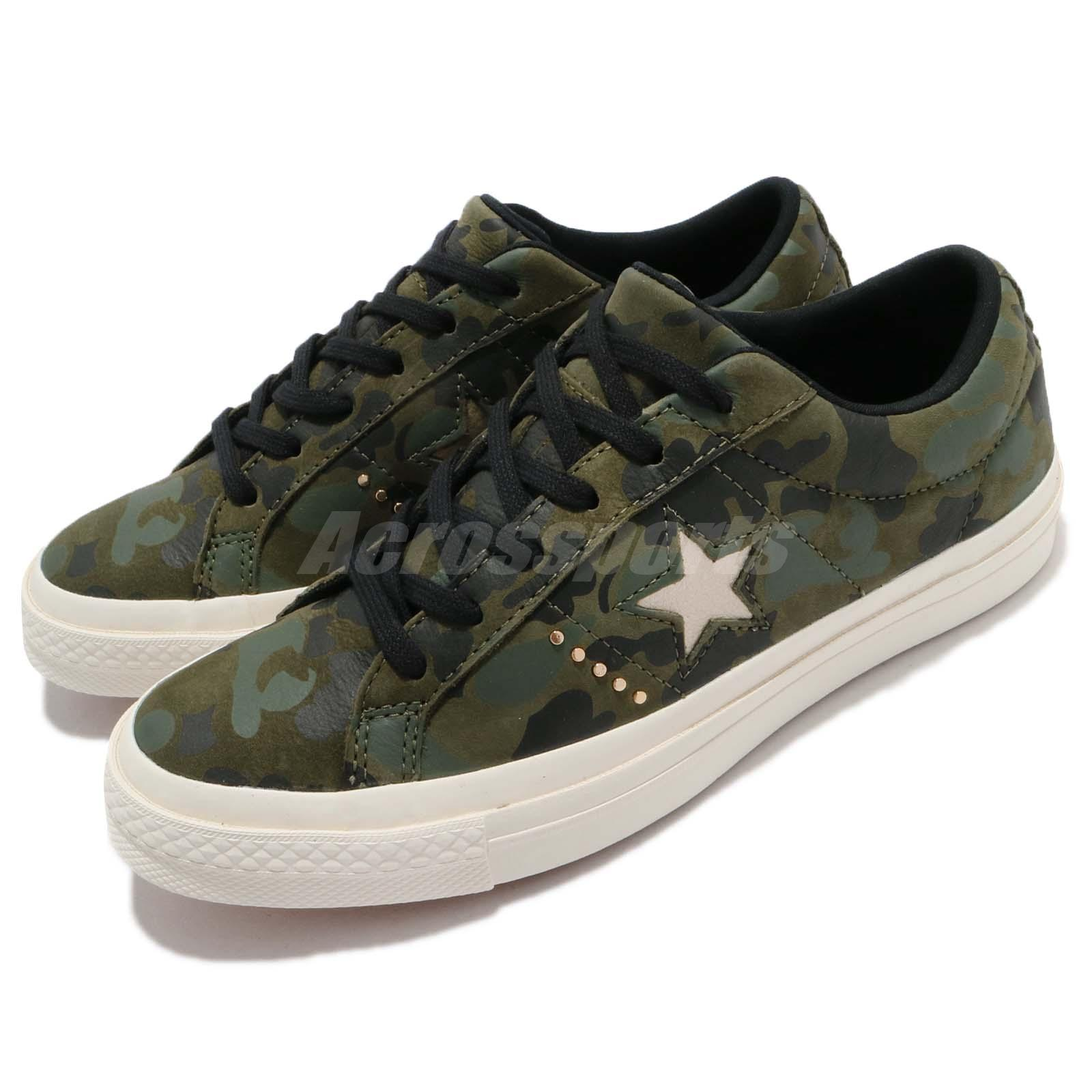 9a5dec971f9f Details about Converse One Star Camo Green White Men Shoes Sneakers Trainers  159703C