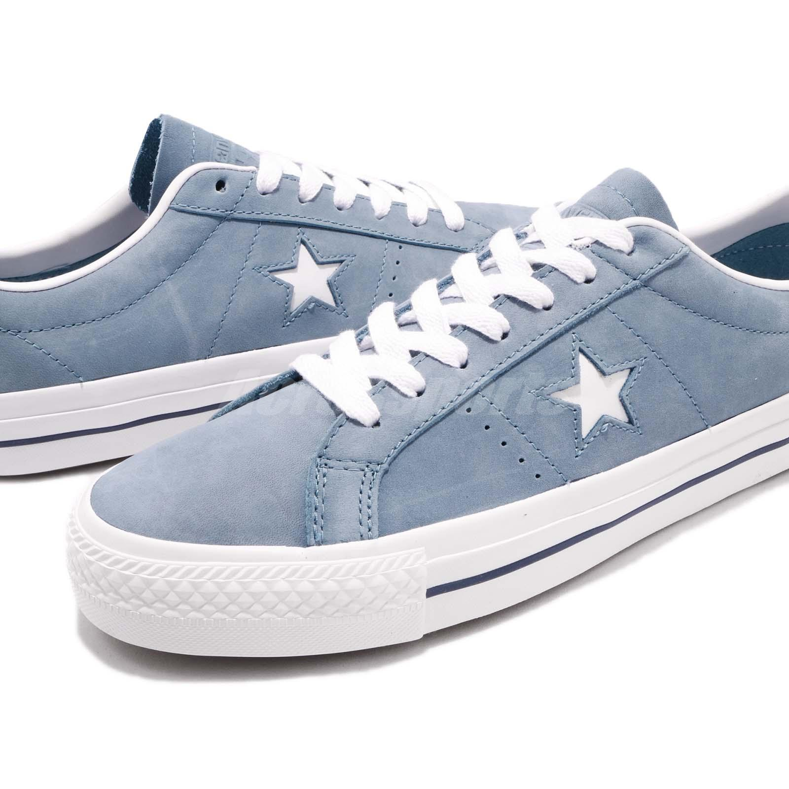 Converse One Star Pro Blue White Men Casual Classic Shoes Sneakers 160537C