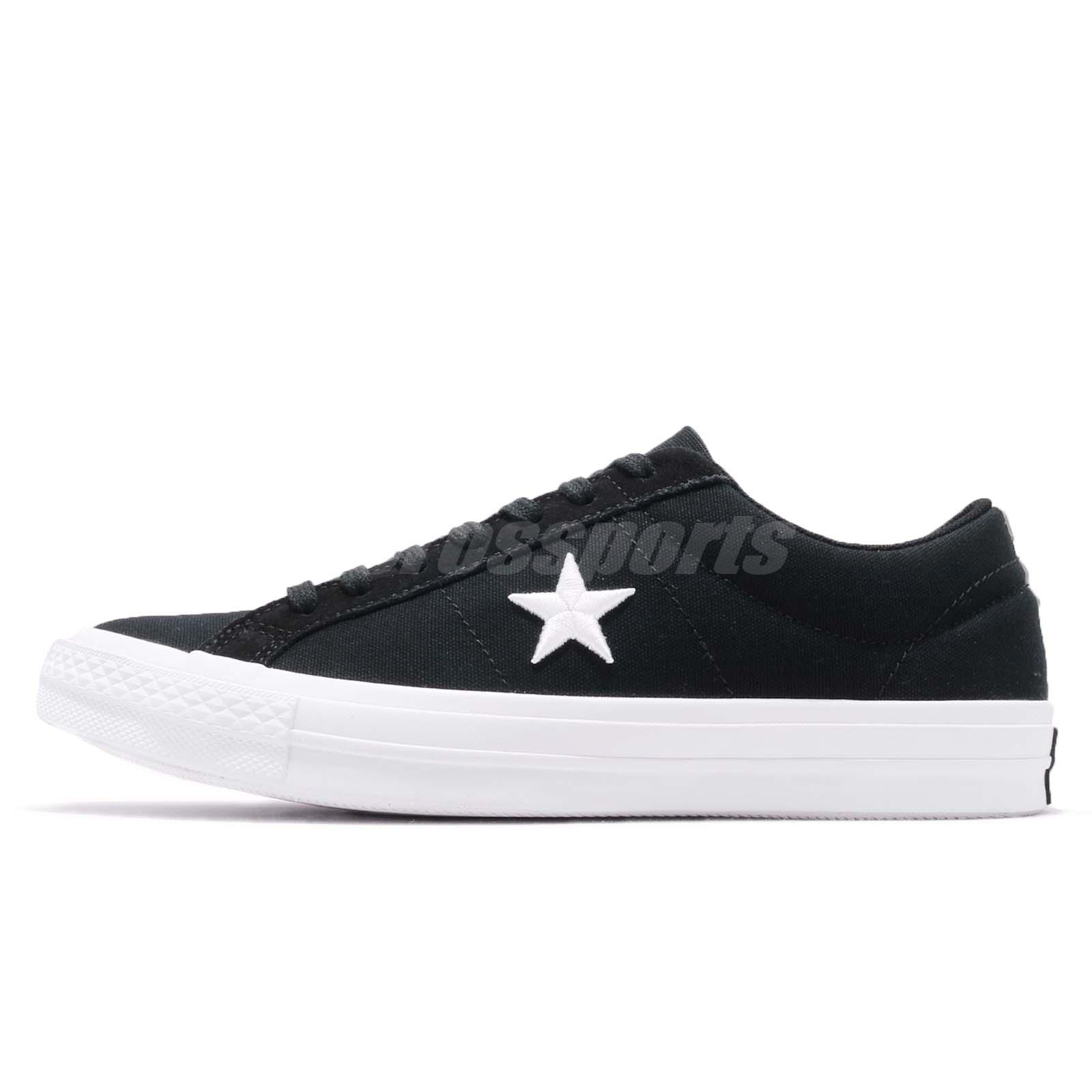 a3529f114e3c Converse One Star Low Black White Men Women Casual Shoes Sneakers 160600C