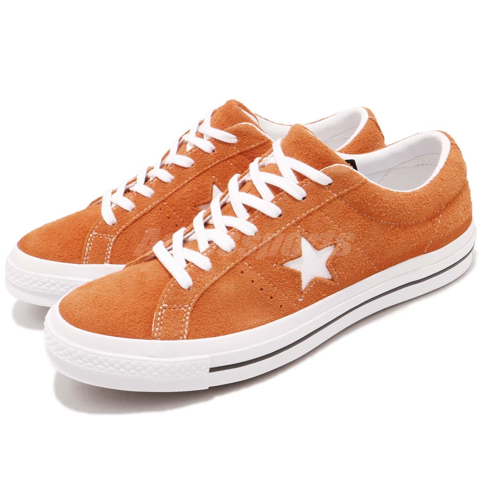 online retailer d857f 42d5e Details about Converse One Star Orange White Suede Men Women Classic Casual  Shoes 161574C