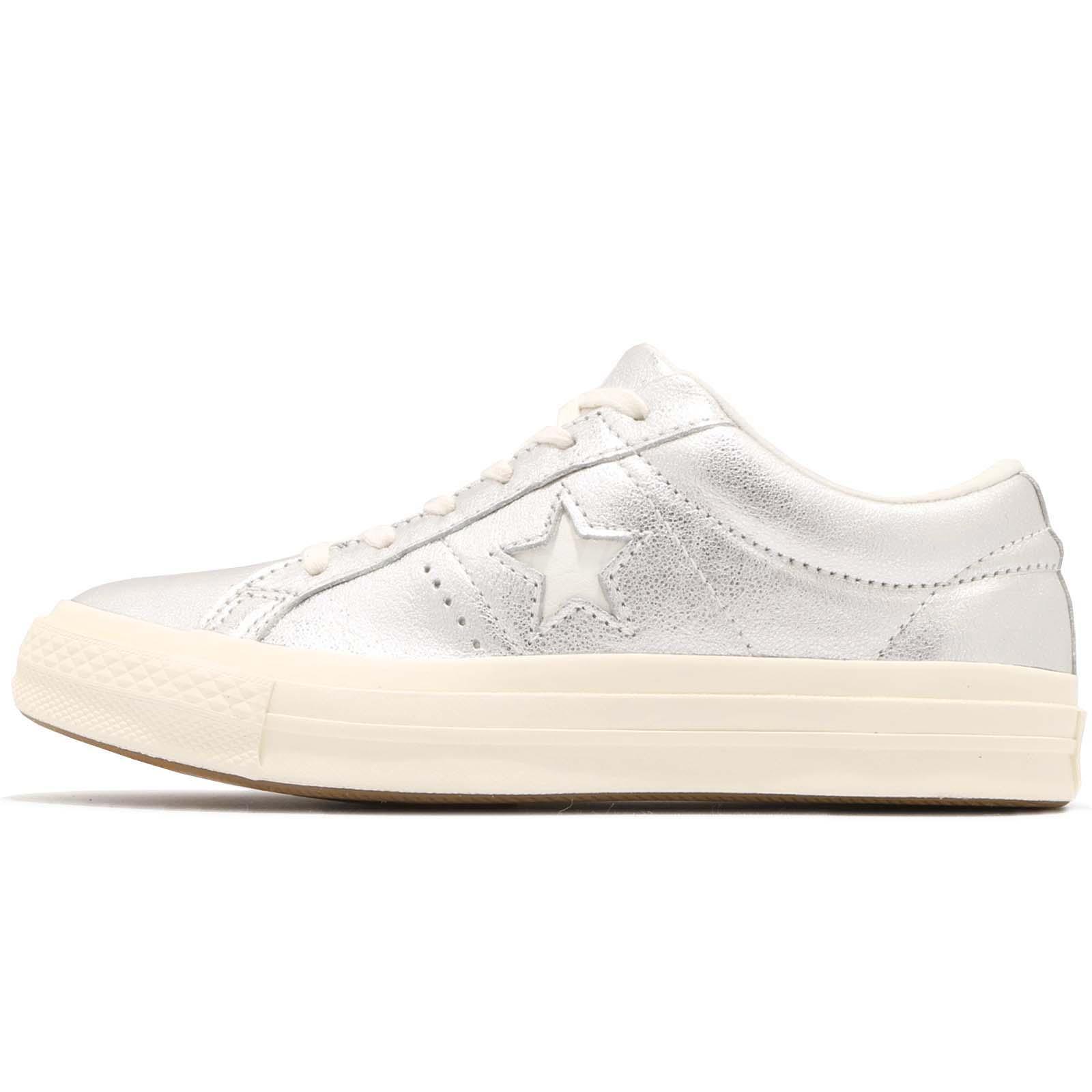 b31d70ea531 Converse One Star OX Silver White Men Women Casual Fashion Shoes Sneaker  161590C