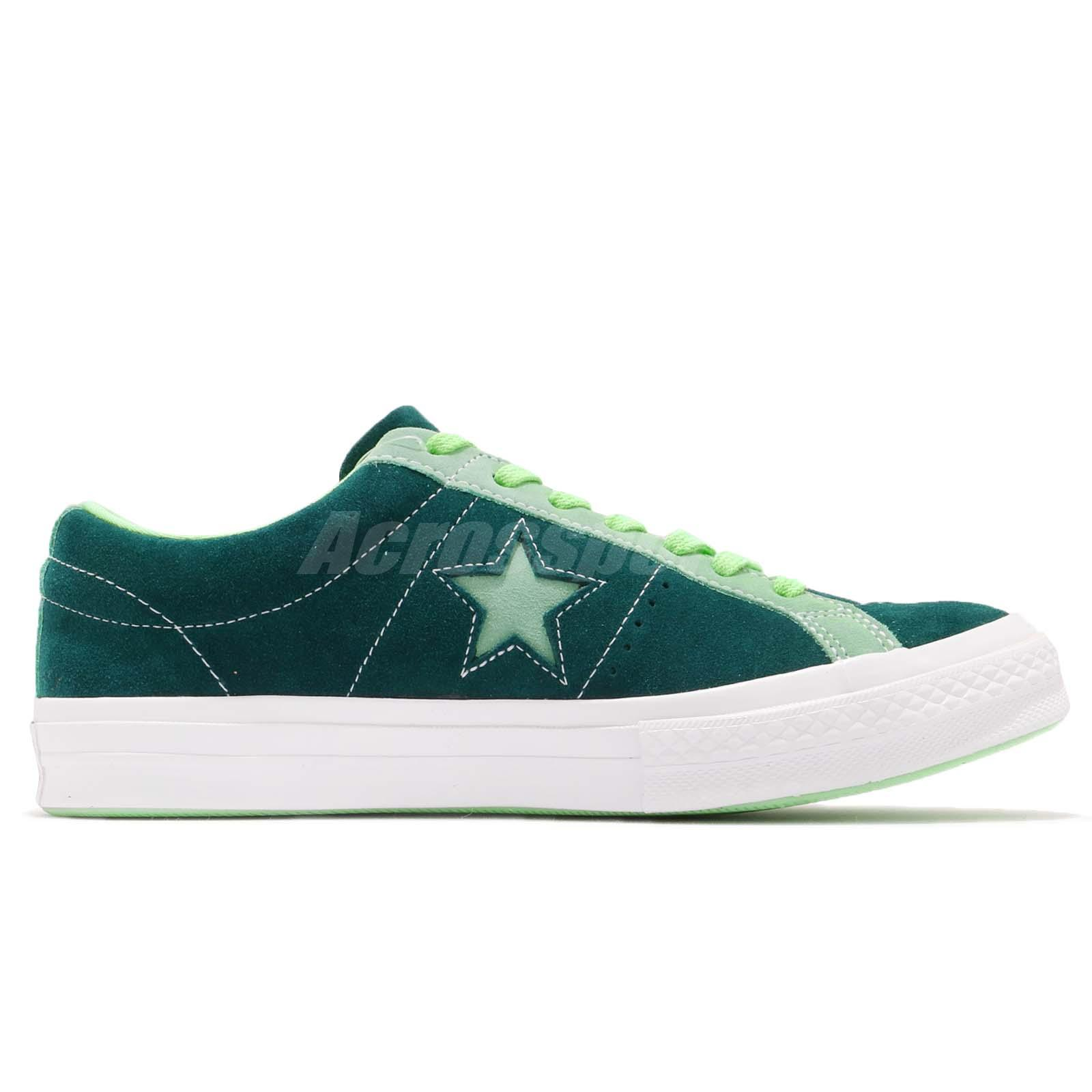 Converse One Star Green White Suede Men Women Casual Shoes Sneakers ... a29d6540e9a