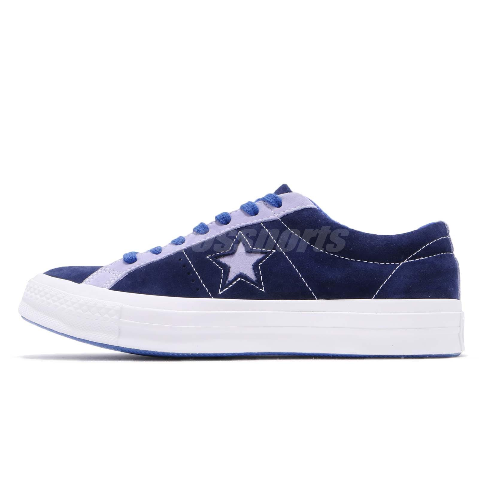 Converse One Star Navy Purple White Suede Men Women Casual Shoes Sneaker  161615C f394d1b8a03