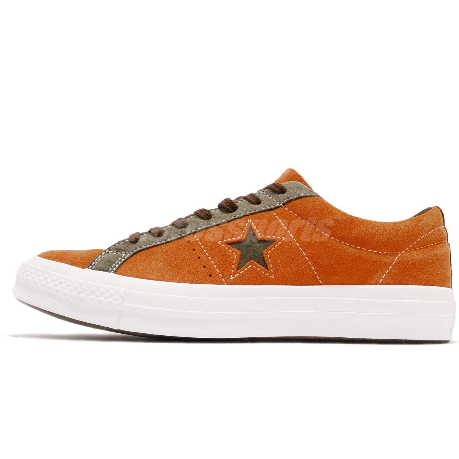 Converse One Star Orange Green White Suede Men Women Casual Shoe