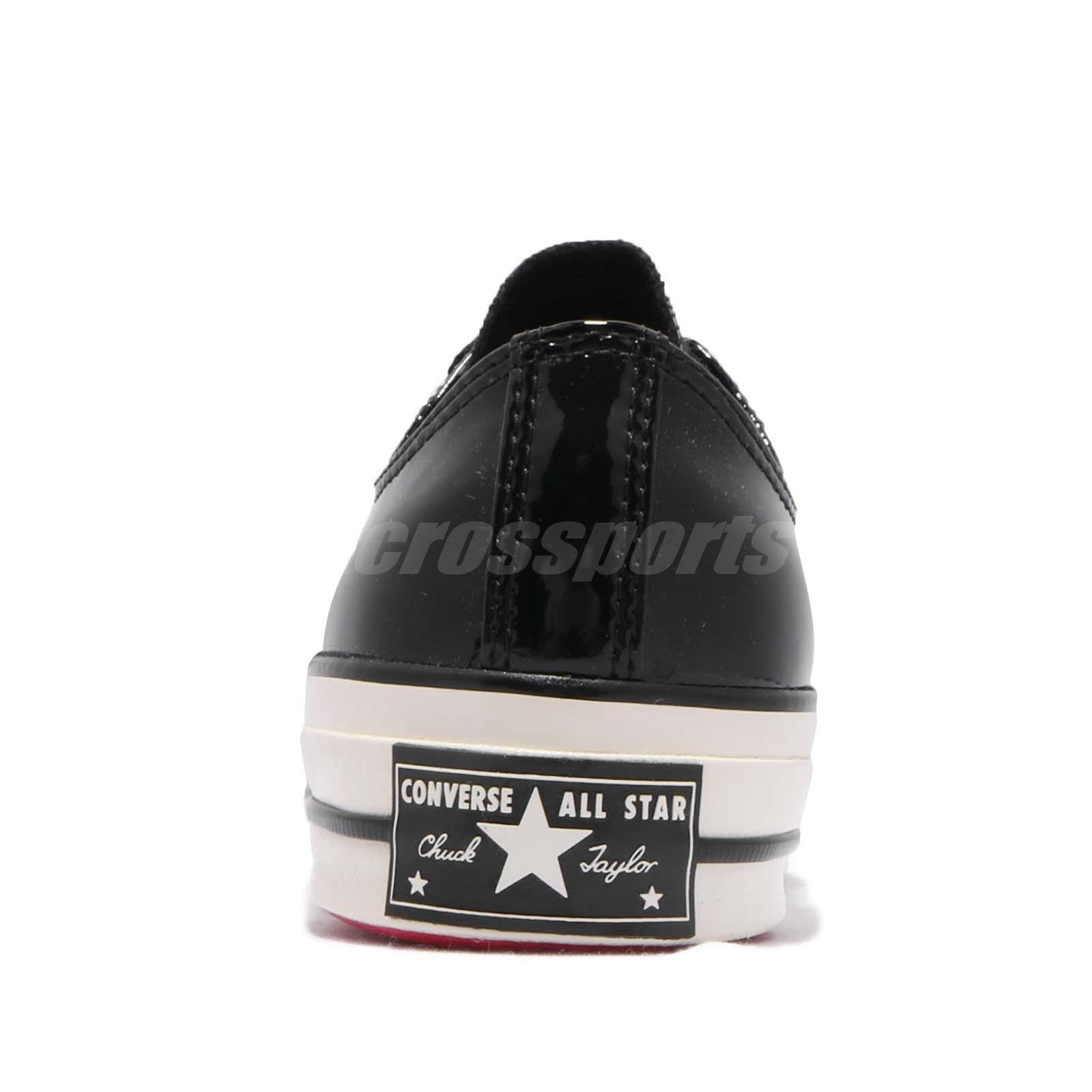 Details about Converse Chuck Taylor All Star 70 1970s Patent Leather Black Low Shoes 162438C