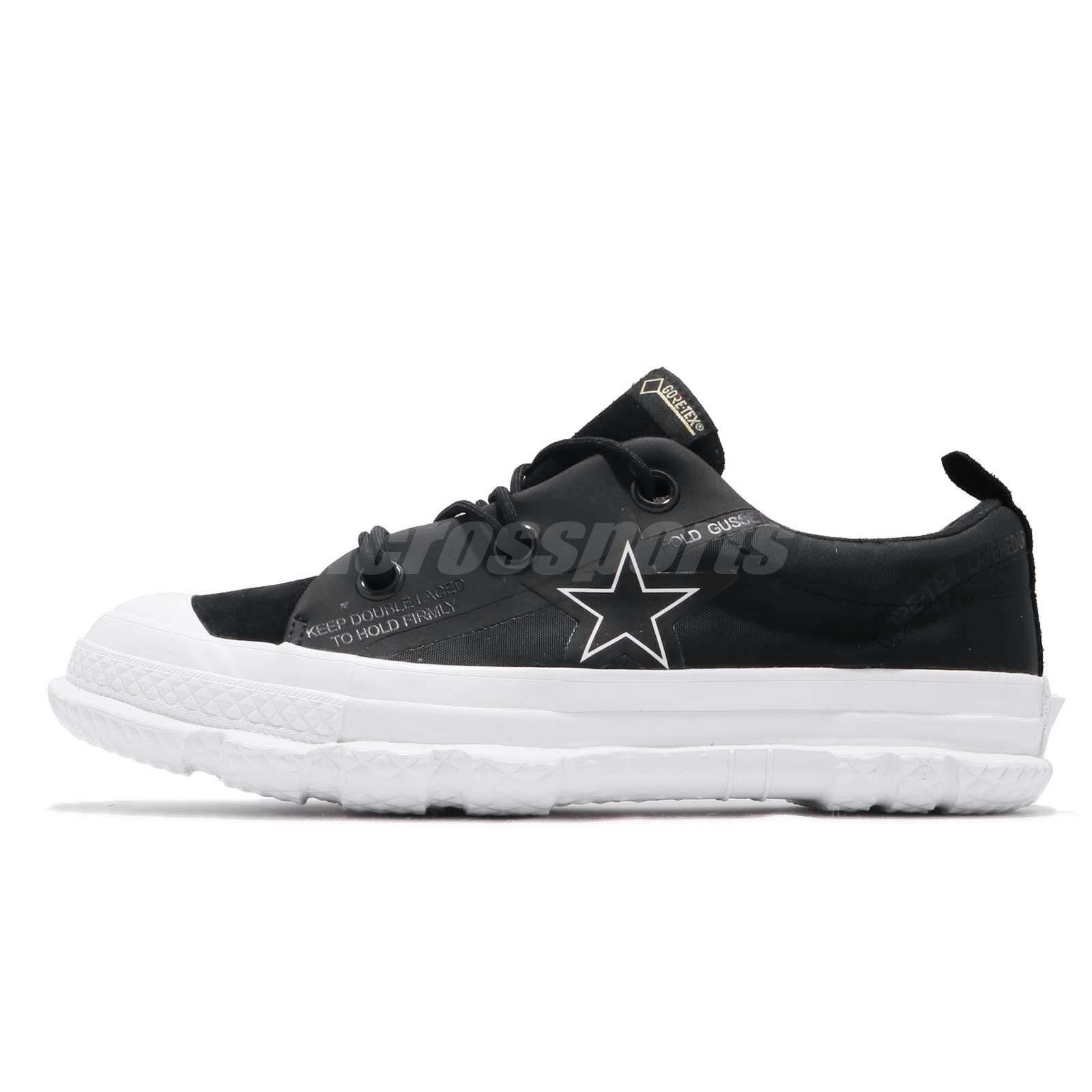 f5f0375e14e43e Converse One Star MC18 OX Gore-Tex Black White Men Women Casual Shoes  163178C