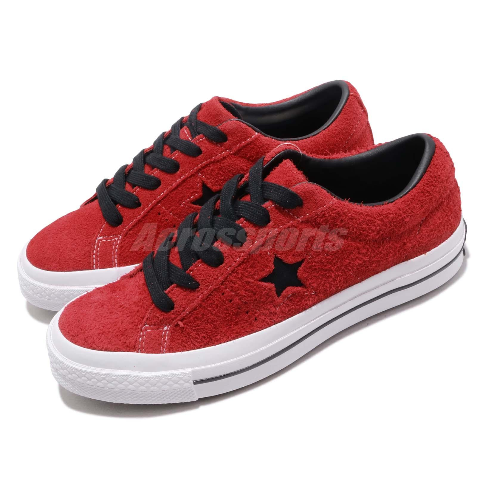f4ef23060884 Details about Converse One Star OX Red Black White Men Women Casual Shoes  Sneakers 163246C