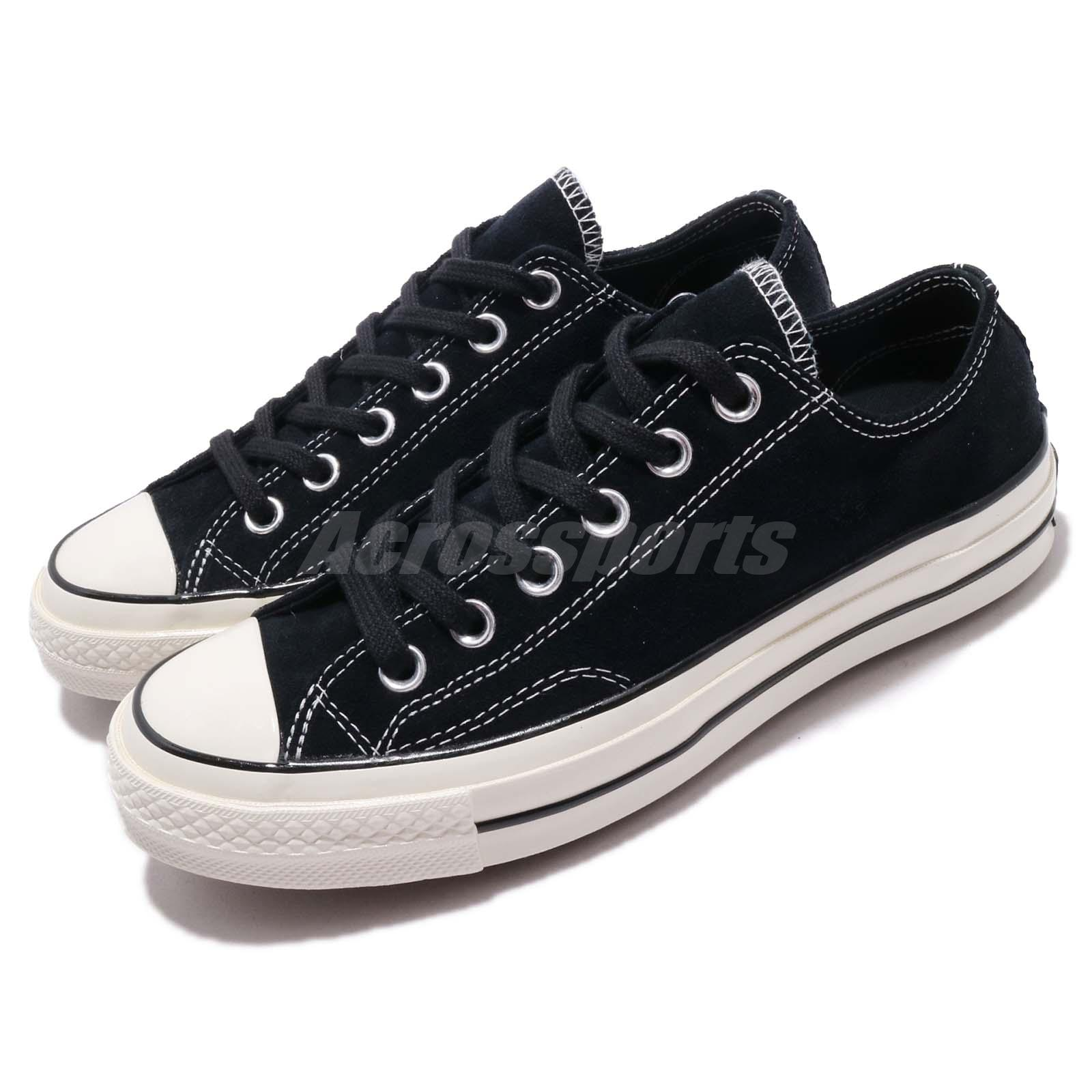 19e7c08f9e36 Details about Converse First String Chuck Taylor All Star 70 OX Black Men  Women Shoes 163759C