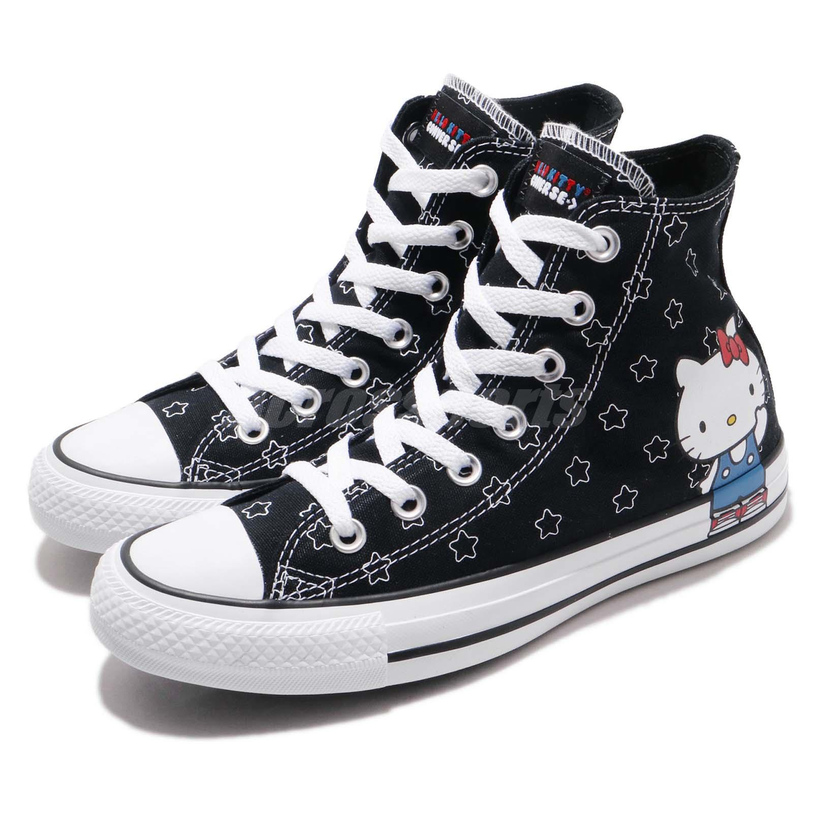 8f83a9a4704343 Details about Converse Hello Kitty Chuck Taylor All Star Black Men Women  Casual Shoes 163919C