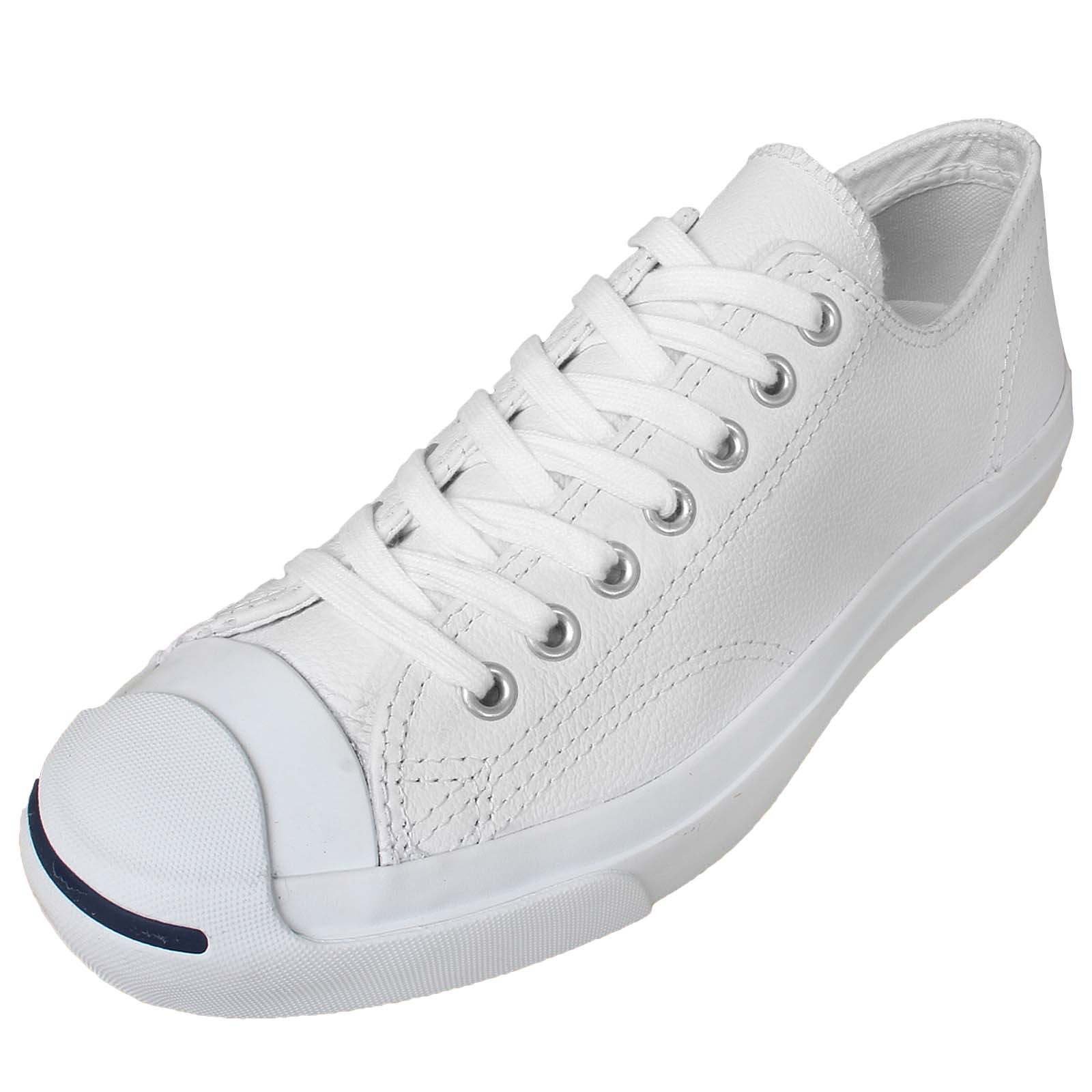 Converse Jack Purcell Leather White Men Women Classic Shoes Sneakers ... 5dc205ac7d57