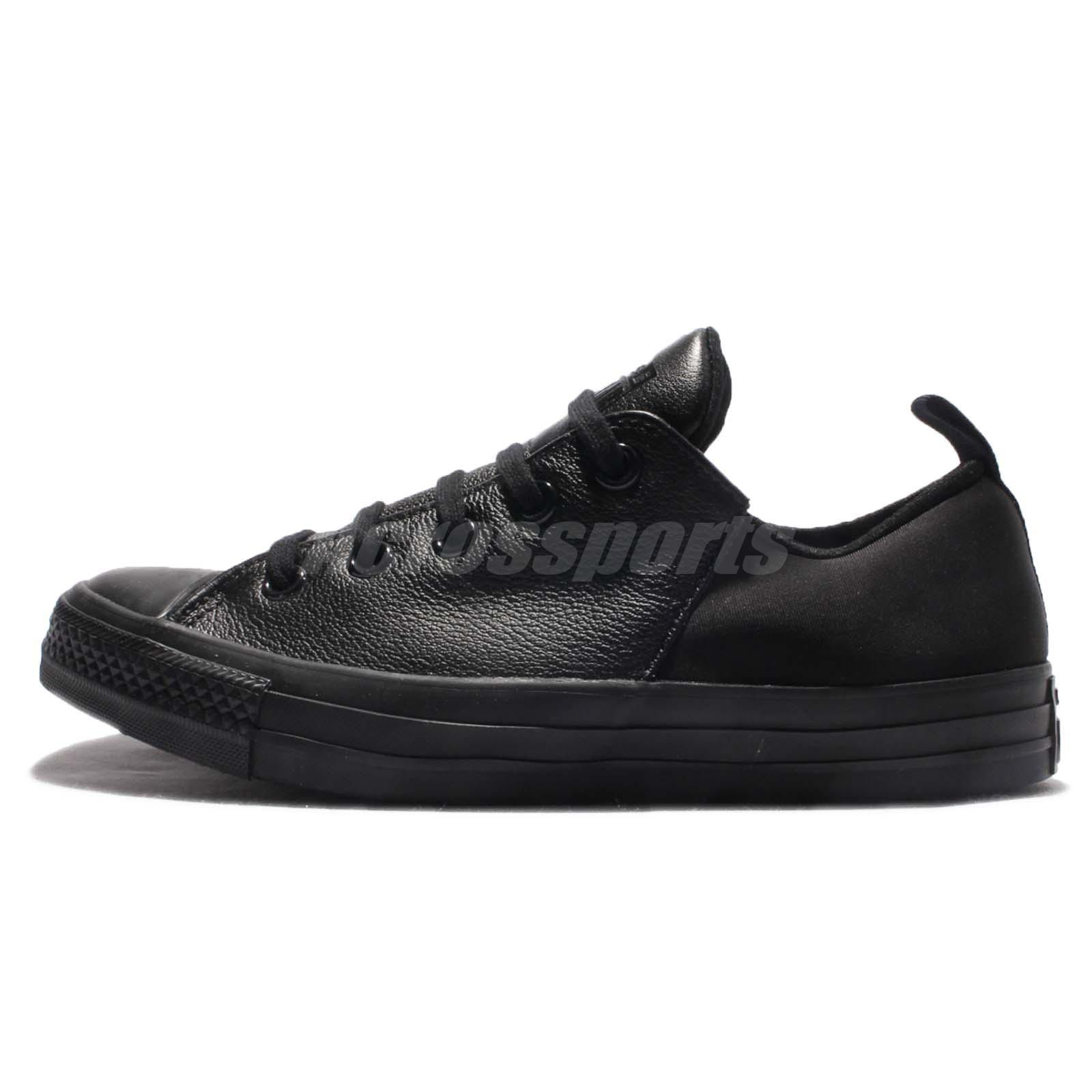 1b622808552b Converse Chuck Taylor All Star Abbey Monochrome Leather Black Women Shoe  553380C