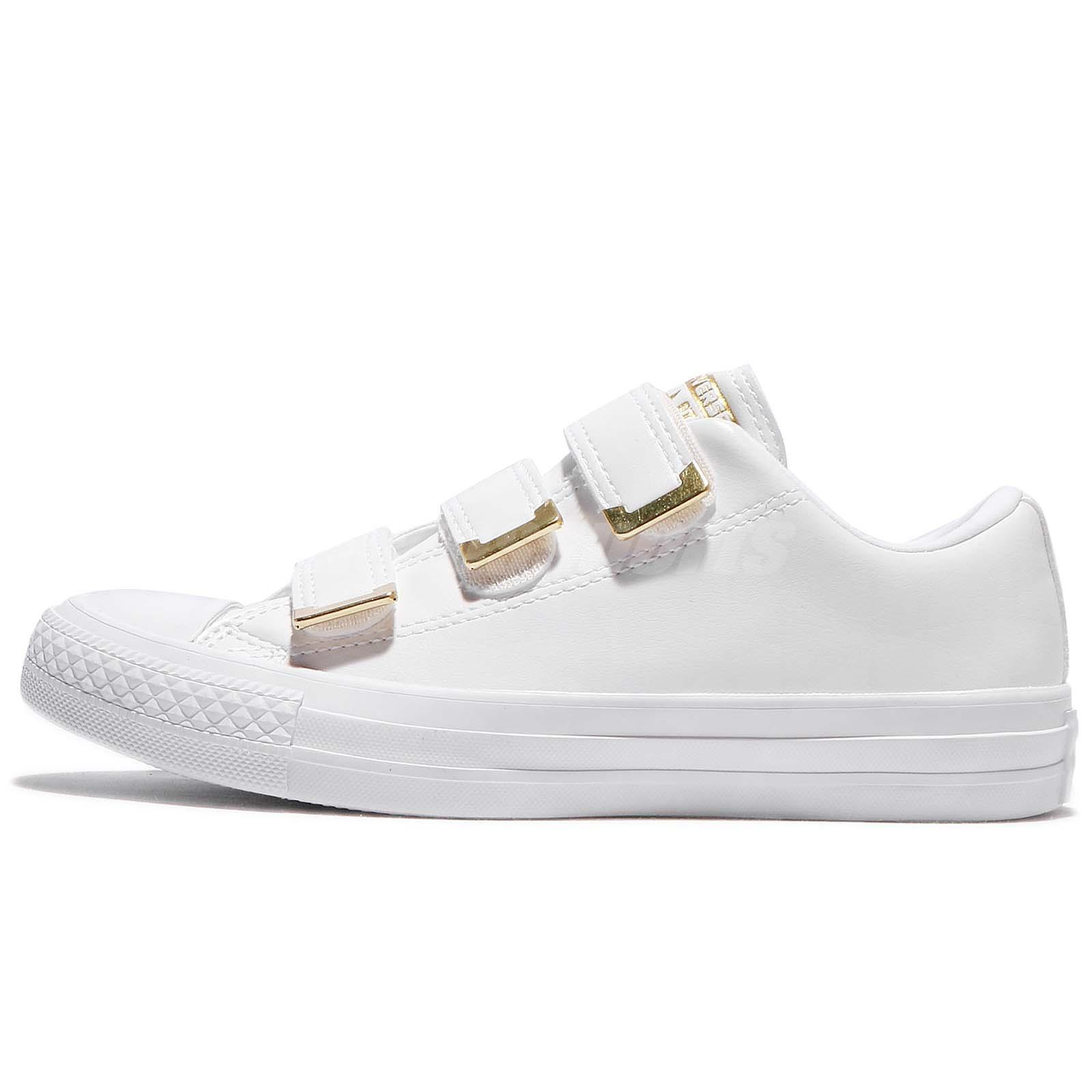 Converse chuck taylor all star 3v strap white gold women shoes converse chuck taylor all star 3v strap white gold women shoes sneakers 559905c geenschuldenfo Choice Image