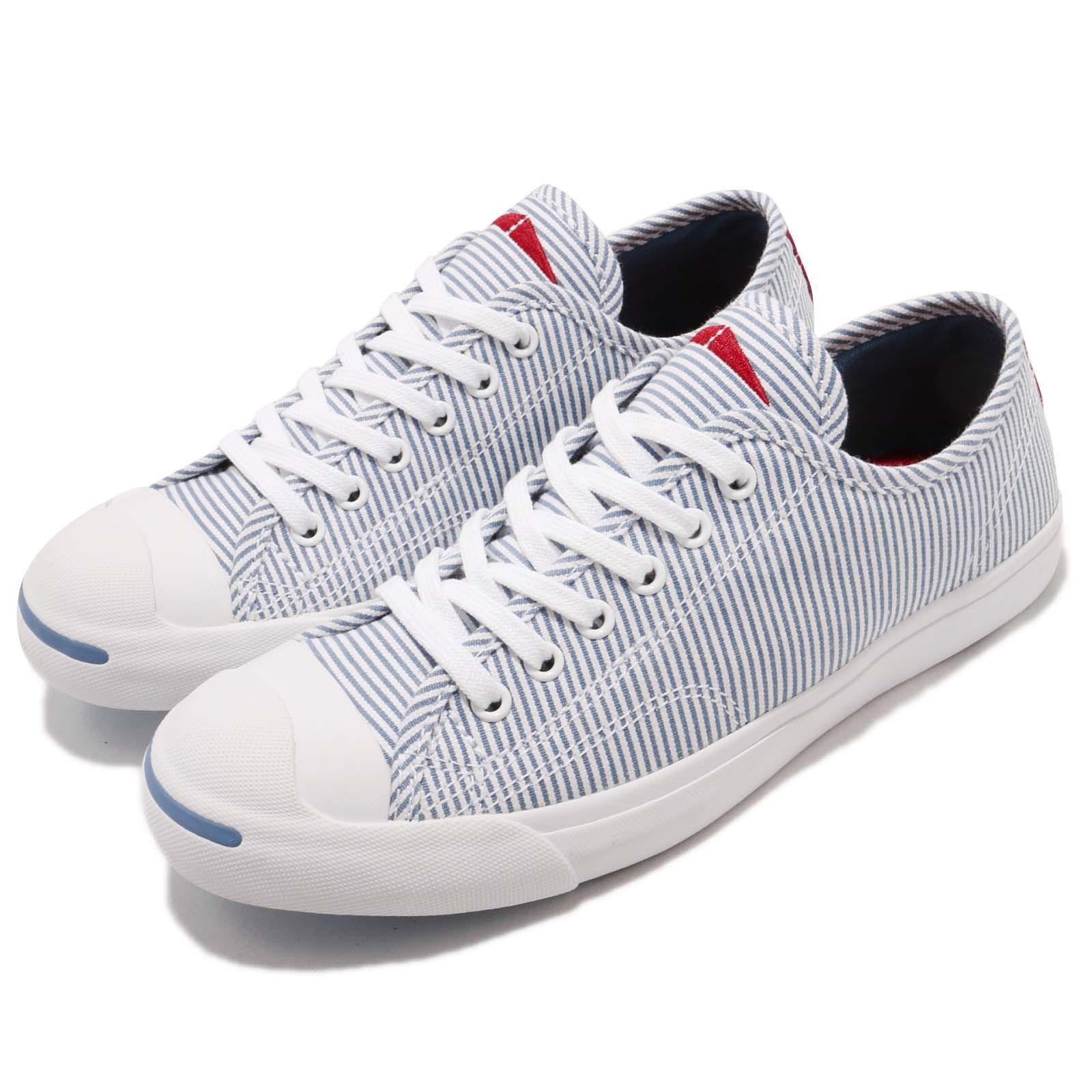 Converse Jack Purcell LP L/S Blue White Canvas Women Casual Shoe Sneaker 560834C