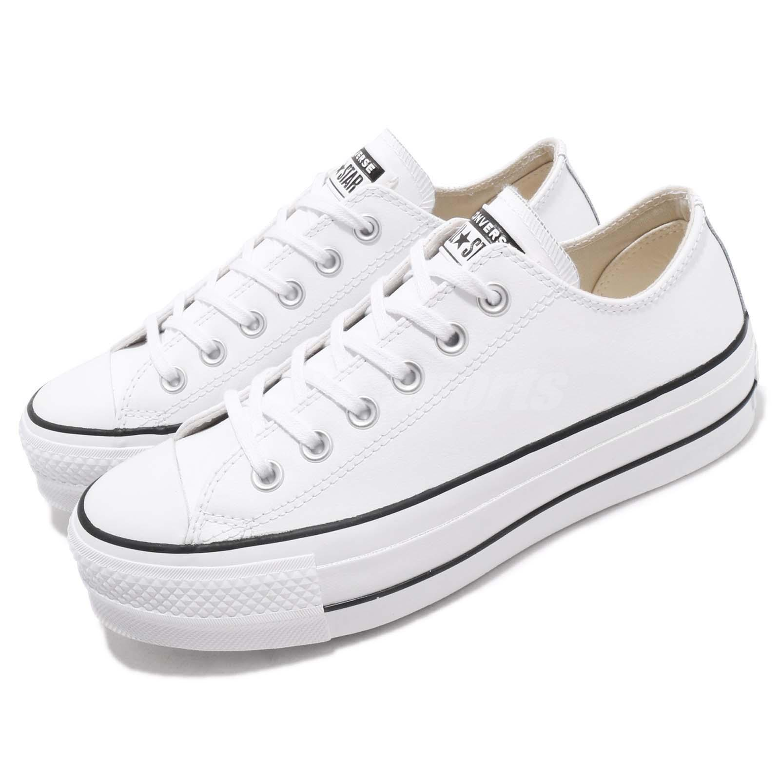 1953603c372116 Details about Converse Chuck Taylor All Star Lift Clean OX White Black  Women Shoes 561680C
