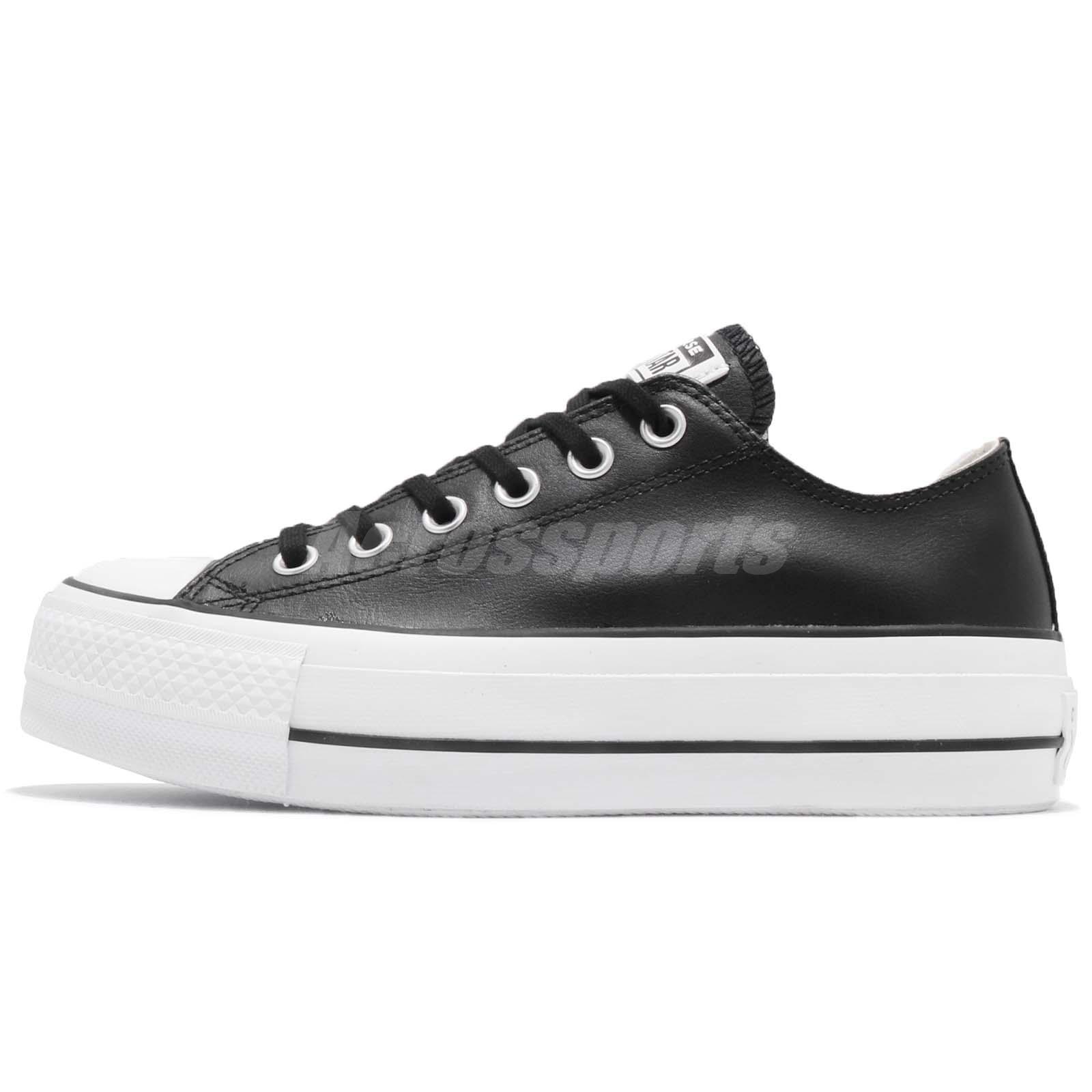 0bb5992dfd90 Converse Chuck Taylor All Star Lift Clean OX Black White Women Shoes 561681C