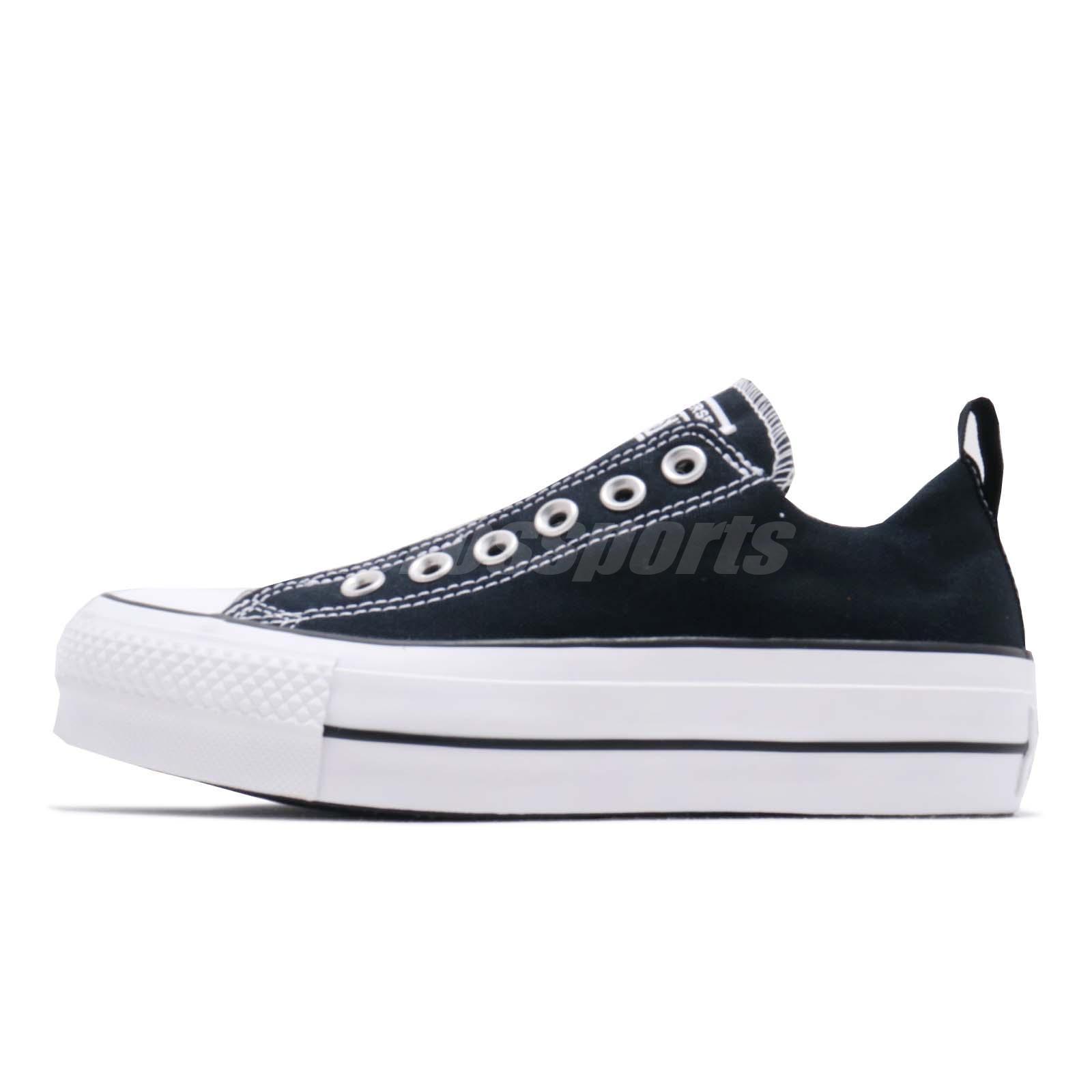 a7acbc2ddff6 Converse Chuck Taylor All Star Lift Slip On Black White Women Shoes 563456C