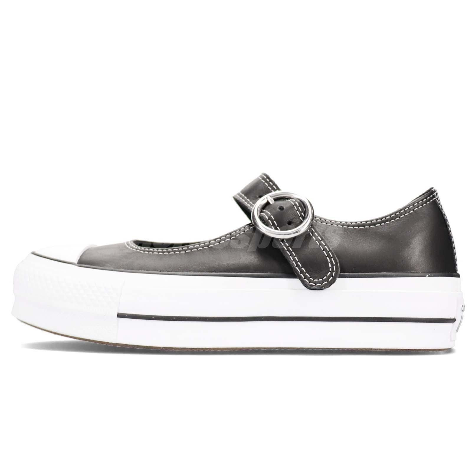 317374fca20 Converse Chuck Taylor All Star Mary Jane Black White Women Slip On Shoes  563501C
