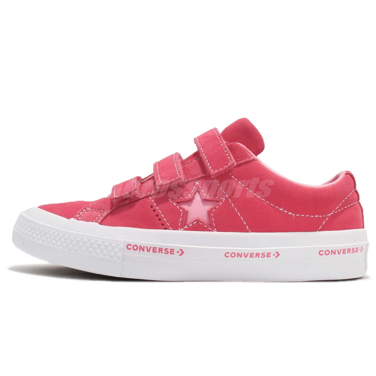 9cf2d01da0c9 Converse One Star 3V Strap OX Pink White Kids Youth Women Shoes Sneakers  660038C