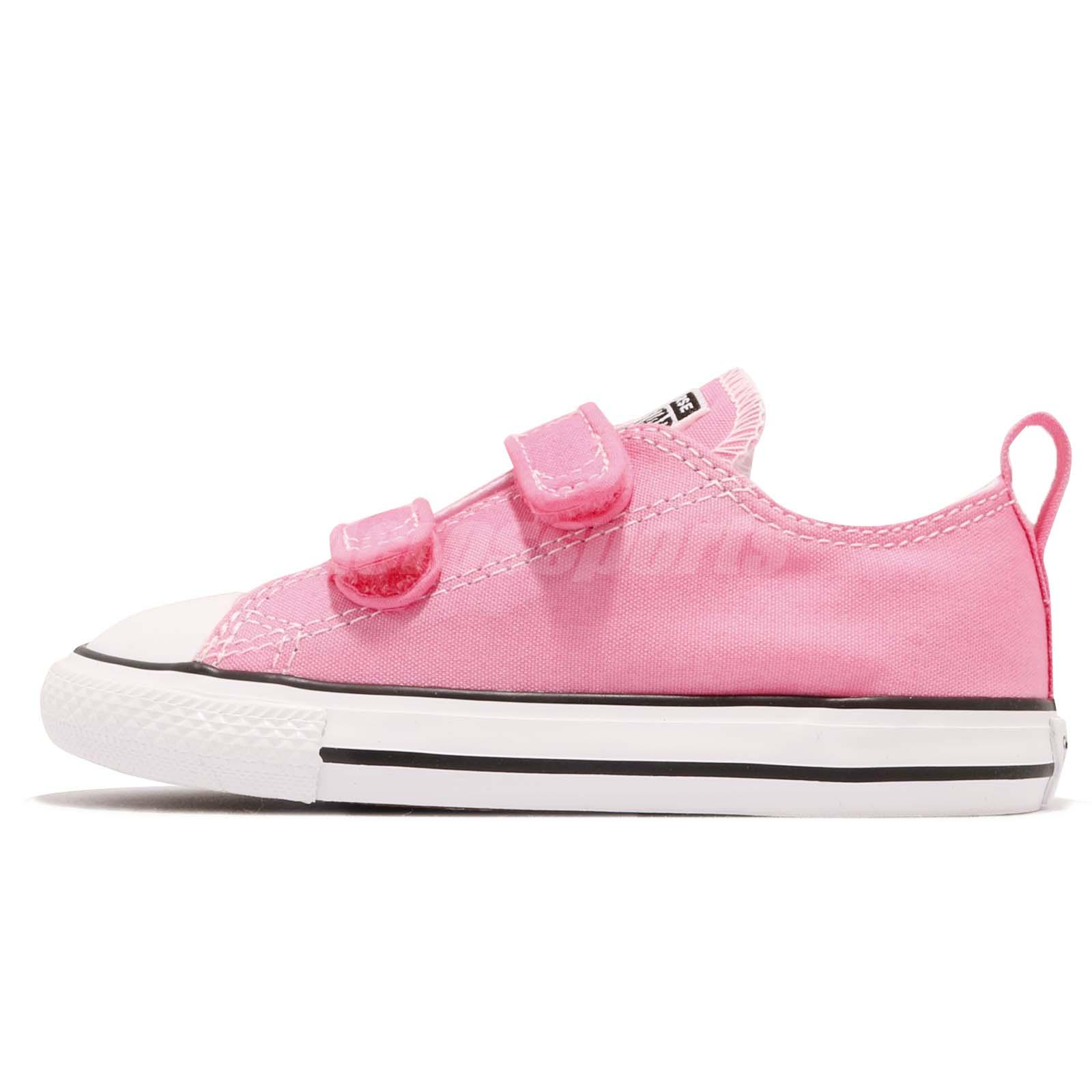 Converse Chuck Taylor All Star V Td Pink White Toddler Infant Baby
