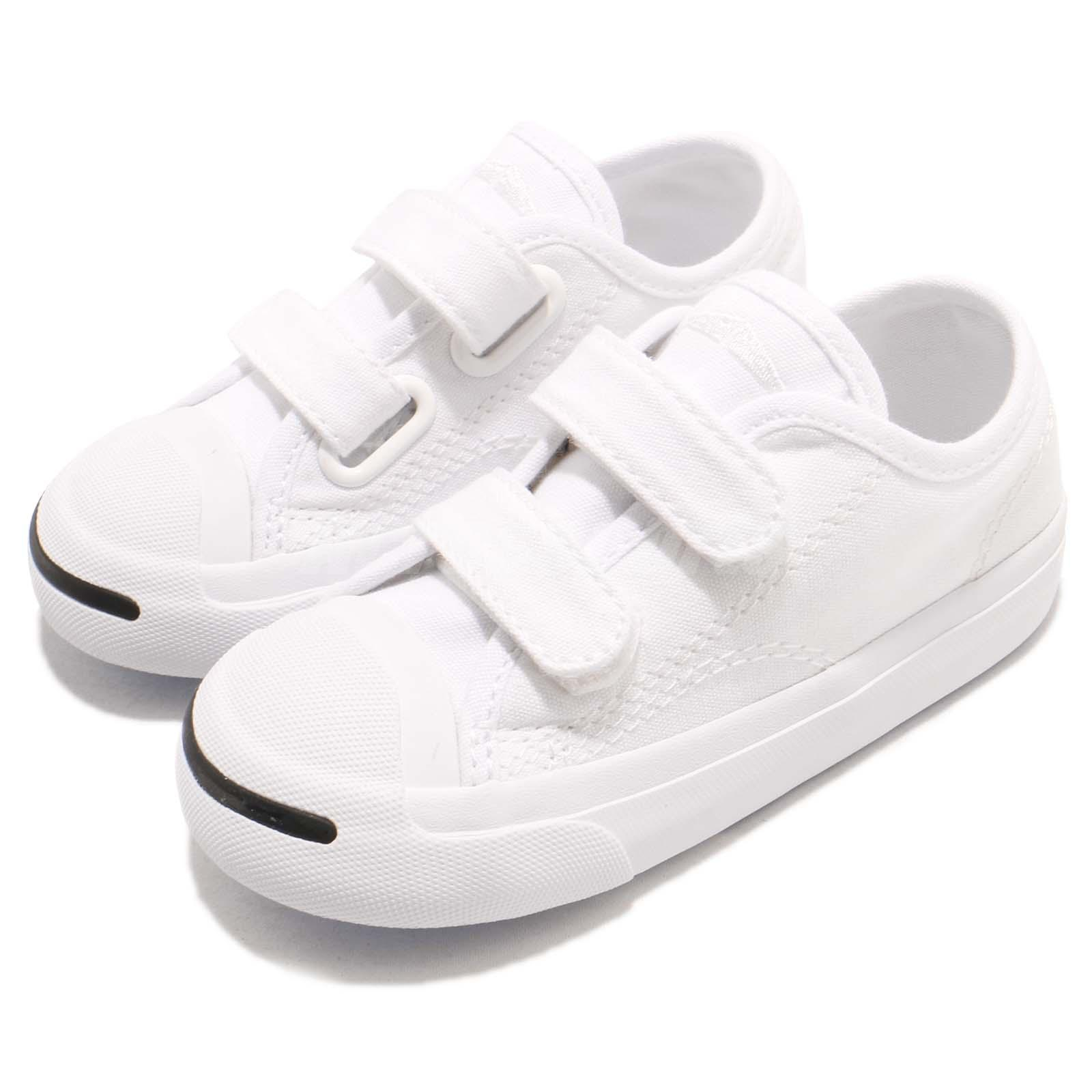 Converse Jack Purcell 2v Td White Canvas Toddler Infant Shoes