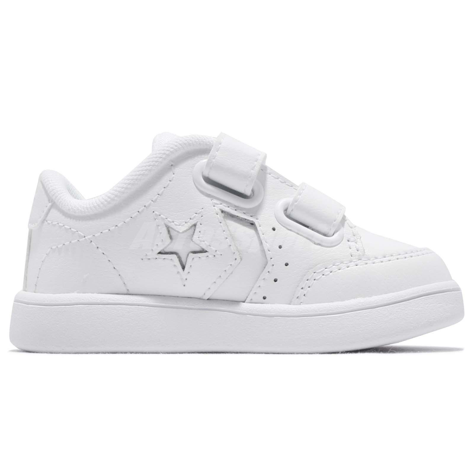 3e9cc72095e Converse Star Court 2V Straps White Toddler Infant Baby Shoes ...