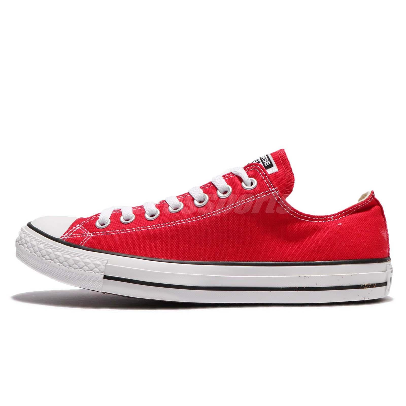 Converse All Star Ox Chuck Taylor Red White Men Canvas Classic Shoes